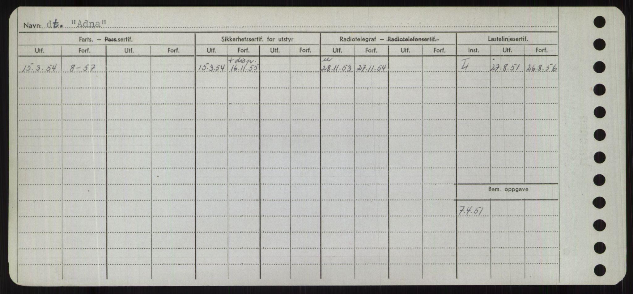 RA, Sjøfartsdirektoratet med forløpere, Skipsmålingen, H/Hd/L0001: Fartøy, A-Anv, s. 92