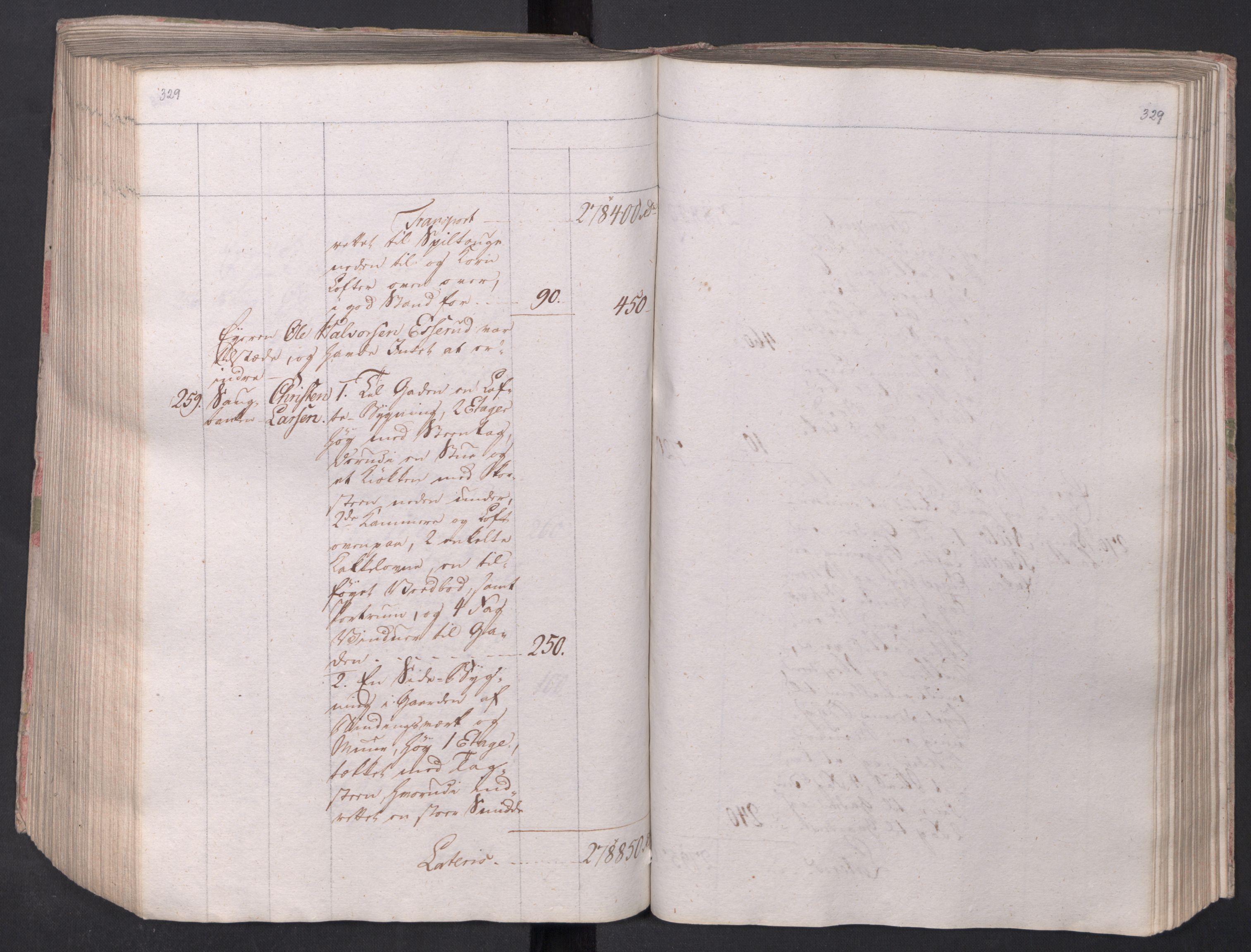 SAO, Kristiania stiftamt, I/Ia/L0015: Branntakster, 1797, s. 329