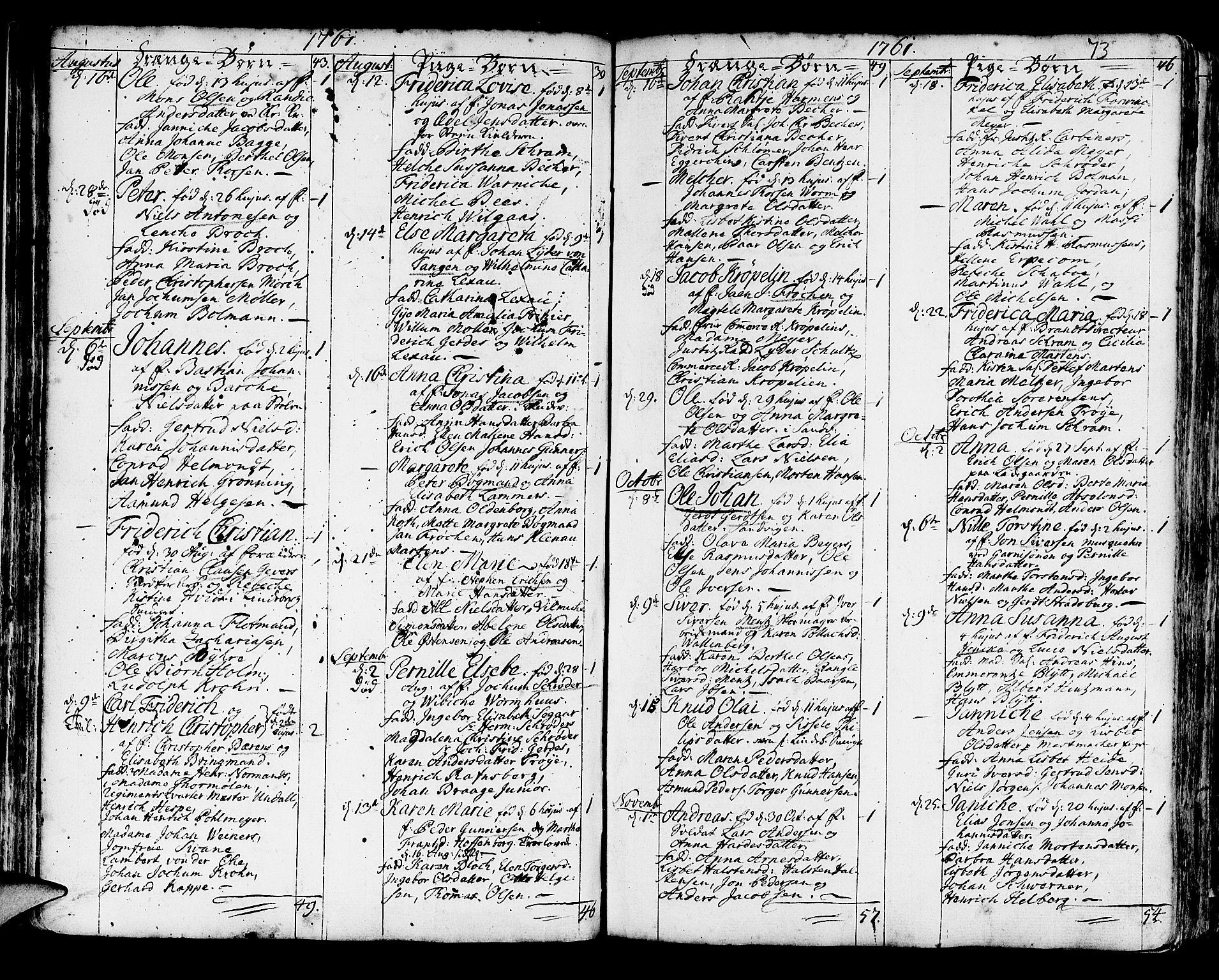 SAB, Korskirken Sokneprestembete, H/Haa/L0005: Ministerialbok nr. A 5, 1751-1789, s. 73
