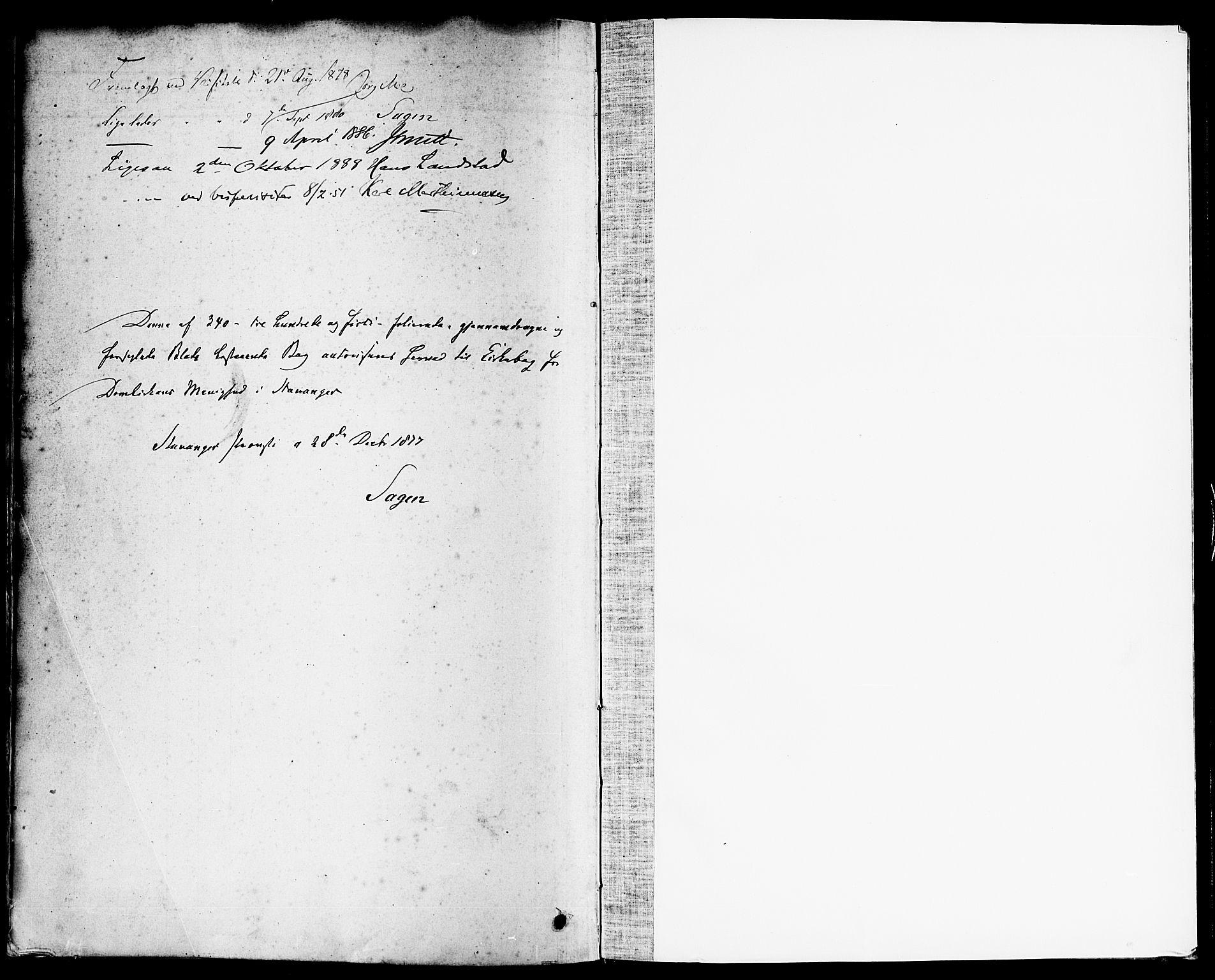 SAST, Domkirken sokneprestkontor, 30/30BA/L0026: Ministerialbok nr. A 25, 1878-1889