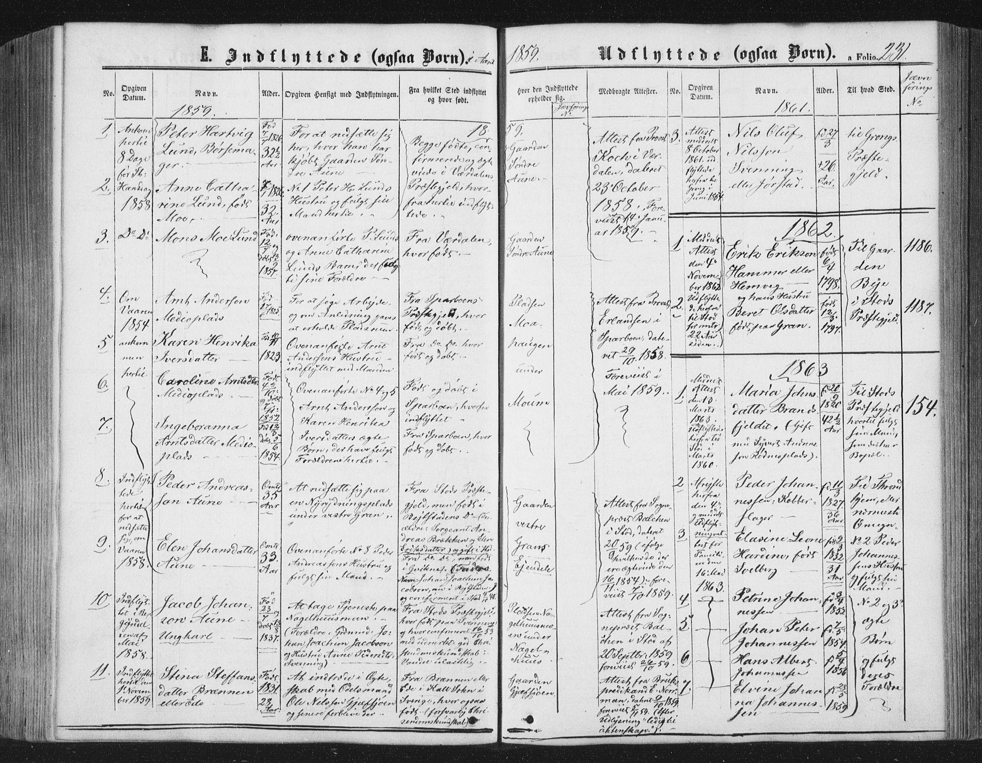SAT, Ministerialprotokoller, klokkerbøker og fødselsregistre - Nord-Trøndelag, 749/L0472: Ministerialbok nr. 749A06, 1857-1873, s. 231