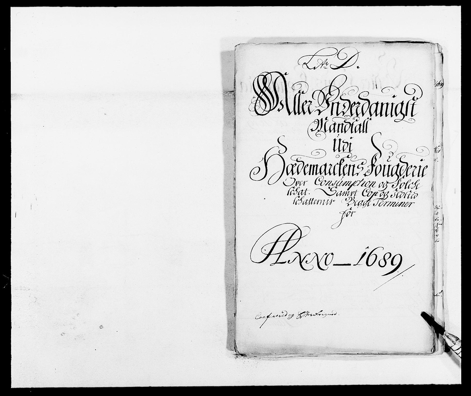 RA, Rentekammeret inntil 1814, Reviderte regnskaper, Fogderegnskap, R16/L1030: Fogderegnskap Hedmark, 1689-1691, s. 132