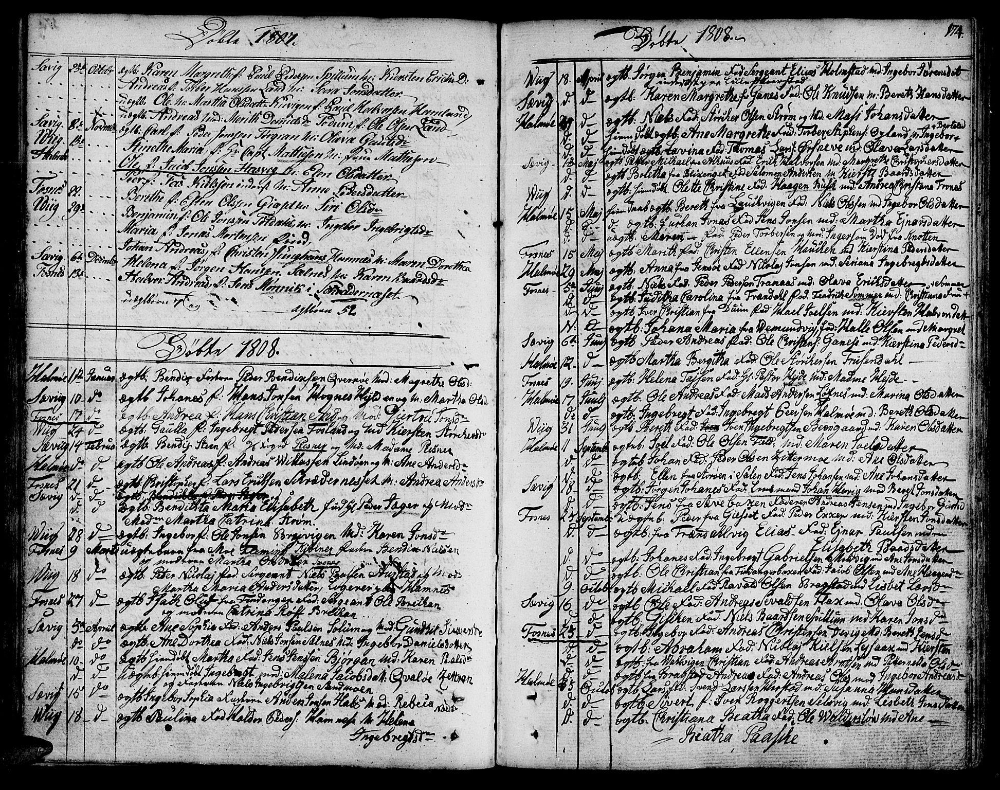 SAT, Ministerialprotokoller, klokkerbøker og fødselsregistre - Nord-Trøndelag, 773/L0608: Ministerialbok nr. 773A02, 1784-1816, s. 174