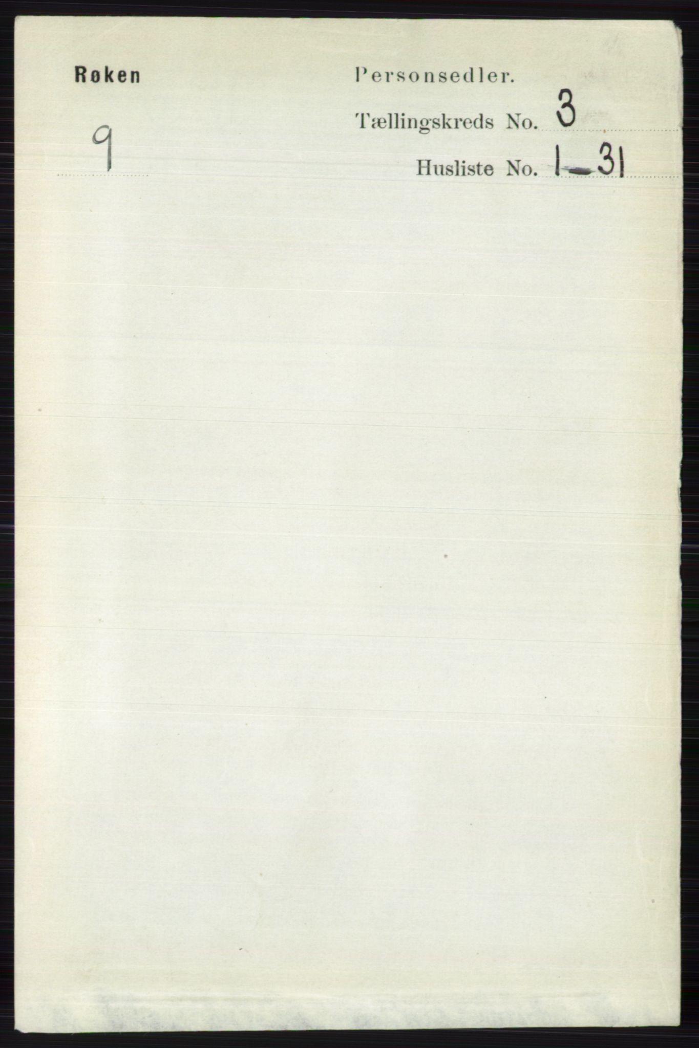 RA, Folketelling 1891 for 0627 Røyken herred, 1891, s. 1195