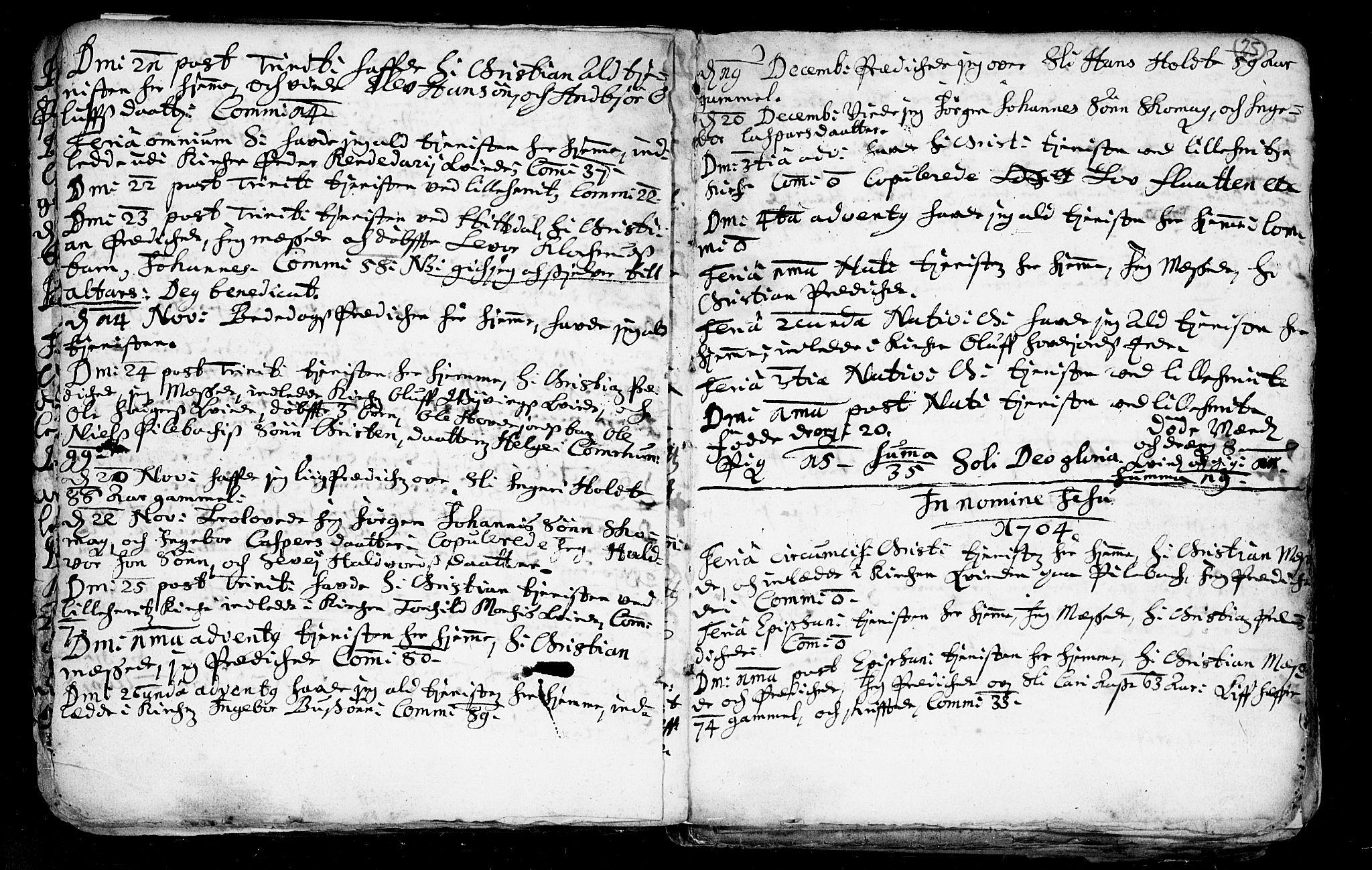 SAKO, Heddal kirkebøker, F/Fa/L0002: Ministerialbok nr. I 2, 1699-1722, s. 25