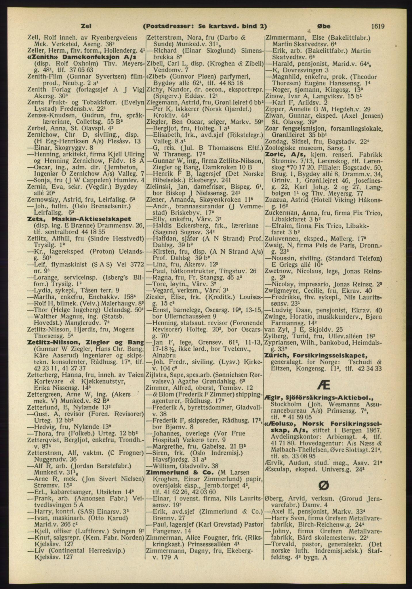 RA, Oslo adressebok (publikasjon)*, 1960-1961, s. 1619