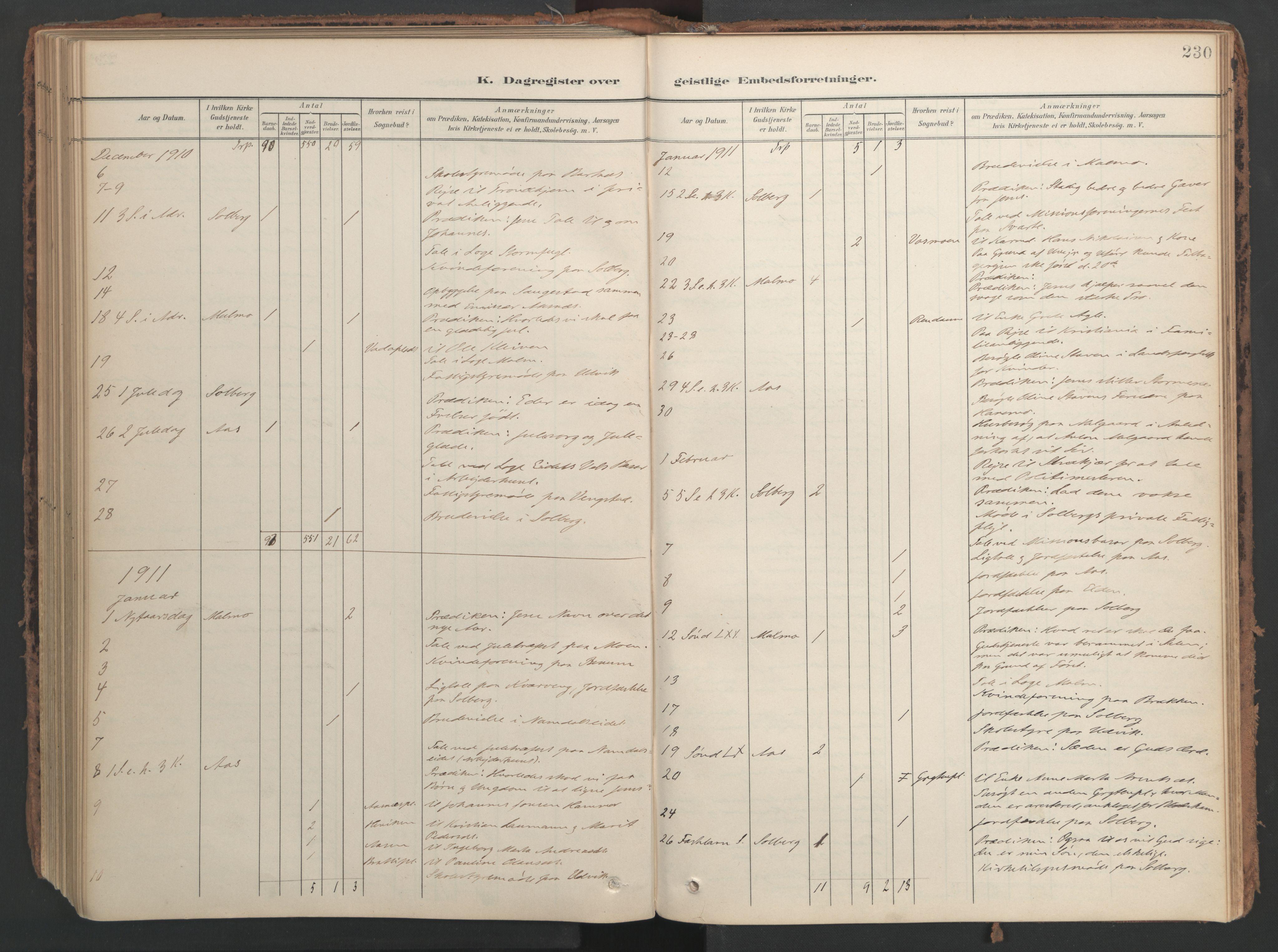 SAT, Ministerialprotokoller, klokkerbøker og fødselsregistre - Nord-Trøndelag, 741/L0397: Ministerialbok nr. 741A11, 1901-1911, s. 230