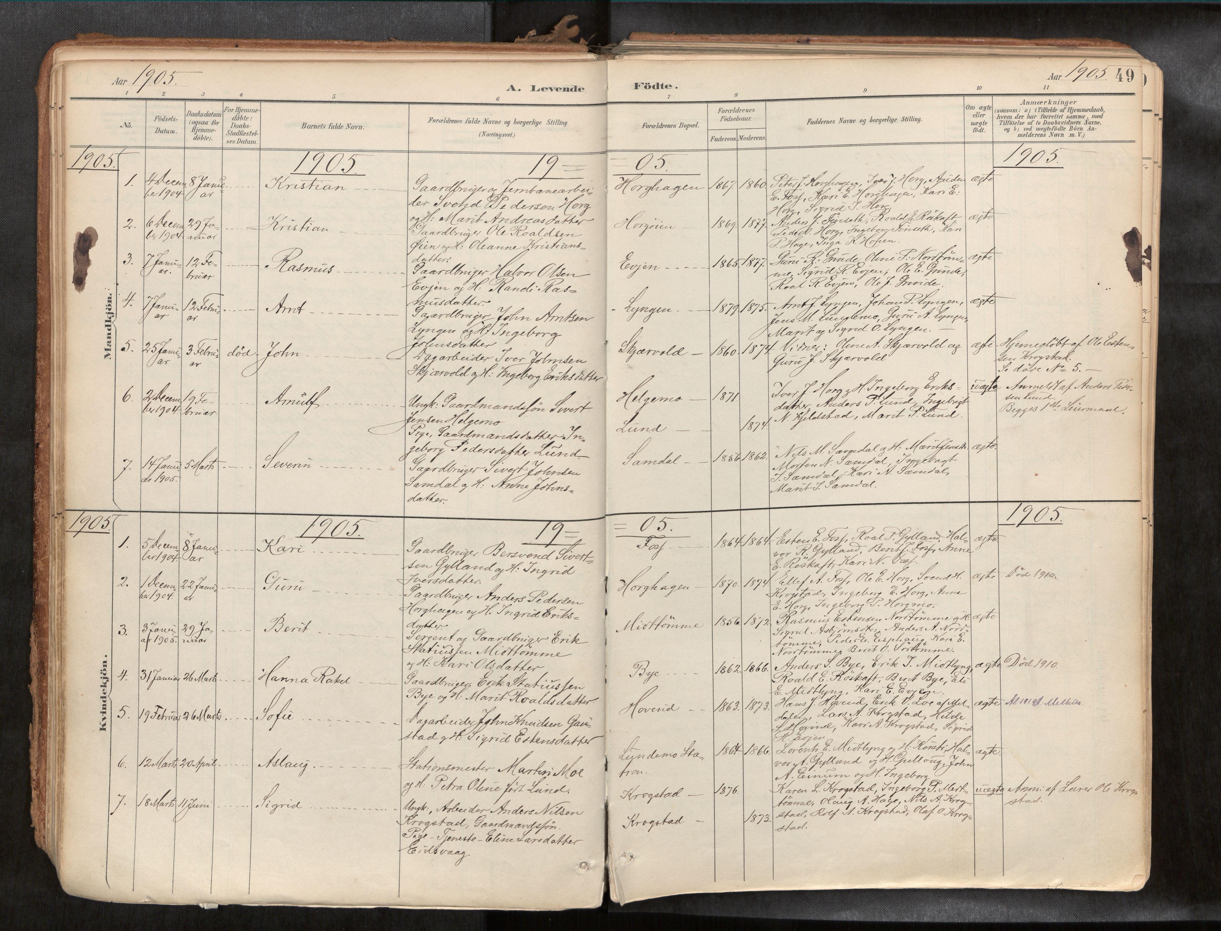 SAT, Ministerialprotokoller, klokkerbøker og fødselsregistre - Sør-Trøndelag, 692/L1105b: Ministerialbok nr. 692A06, 1891-1934, s. 49