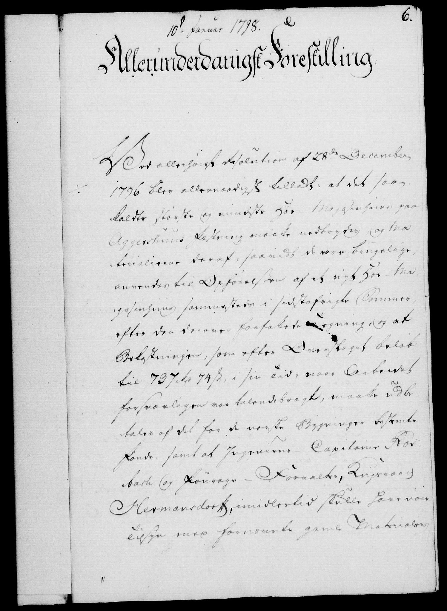 RA, Rentekammeret, Kammerkanselliet, G/Gf/Gfa/L0080: Norsk relasjons- og resolusjonsprotokoll (merket RK 52.80), 1798, s. 43