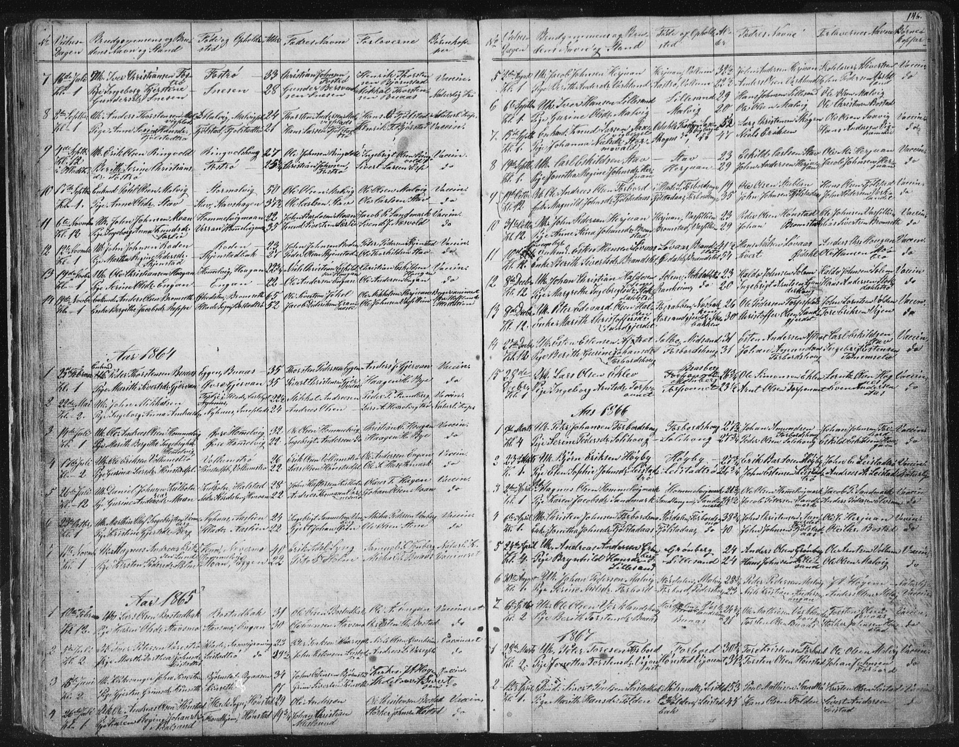 SAT, Ministerialprotokoller, klokkerbøker og fødselsregistre - Sør-Trøndelag, 616/L0406: Ministerialbok nr. 616A03, 1843-1879, s. 146