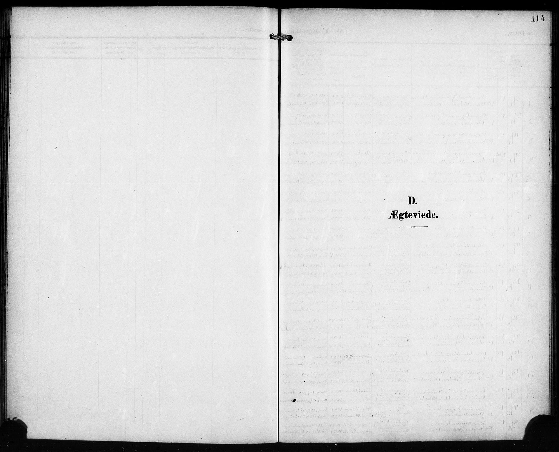 SAB, Mariakirken Sokneprestembete, H/Hab/L0009: Klokkerbok nr. A 9, 1901-1919, s. 114