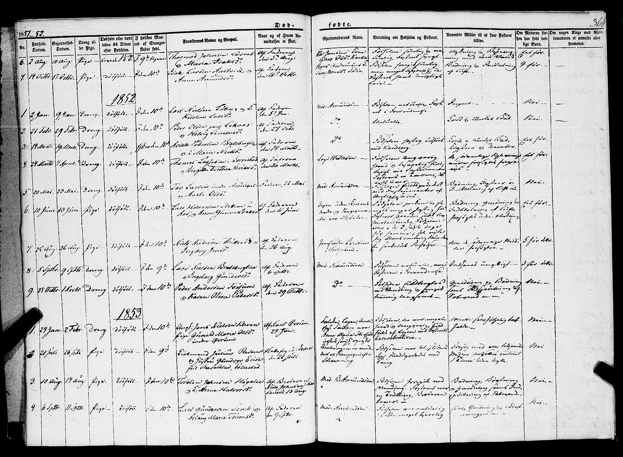 SAKO, Gjerpen kirkebøker, F/Fa/L0007b: Ministerialbok nr. 7B, 1834-1857, s. 364