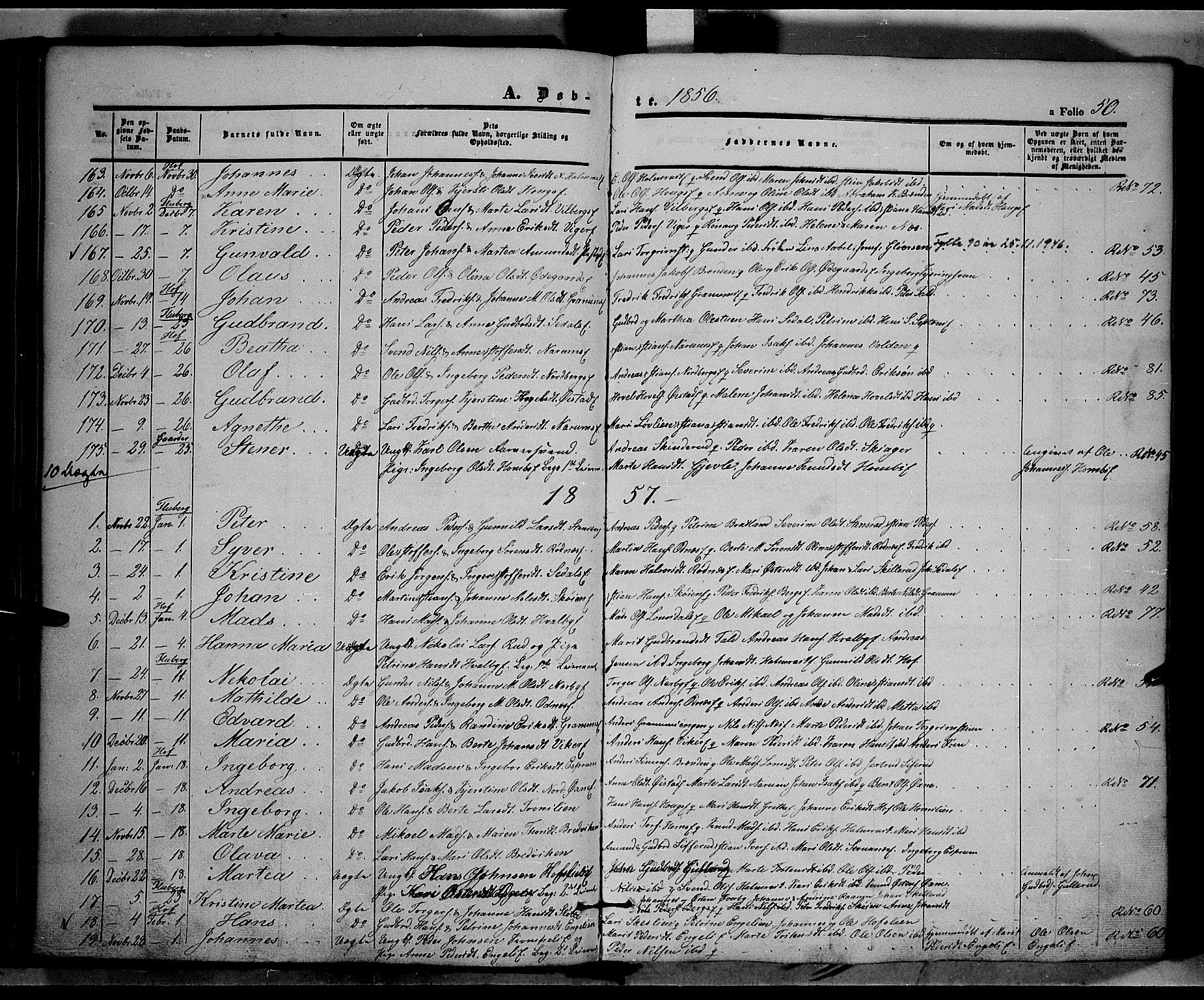 SAH, Land prestekontor, Ministerialbok nr. 9, 1847-1859, s. 50