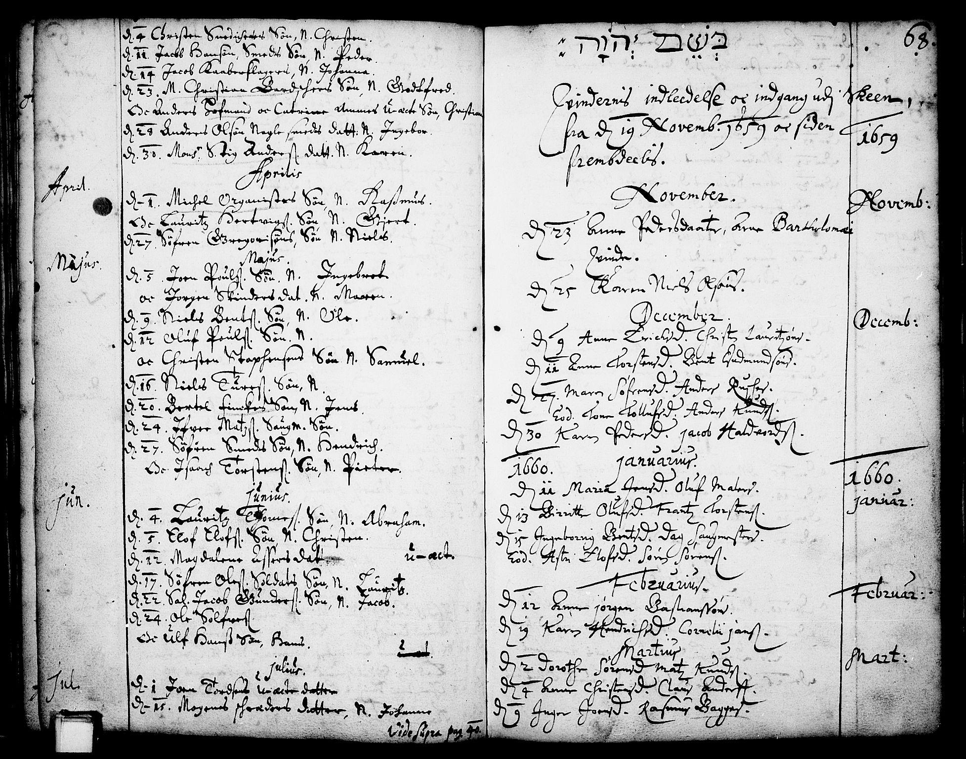 SAKO, Skien kirkebøker, F/Fa/L0001: Ministerialbok nr. 1, 1659-1679, s. 68