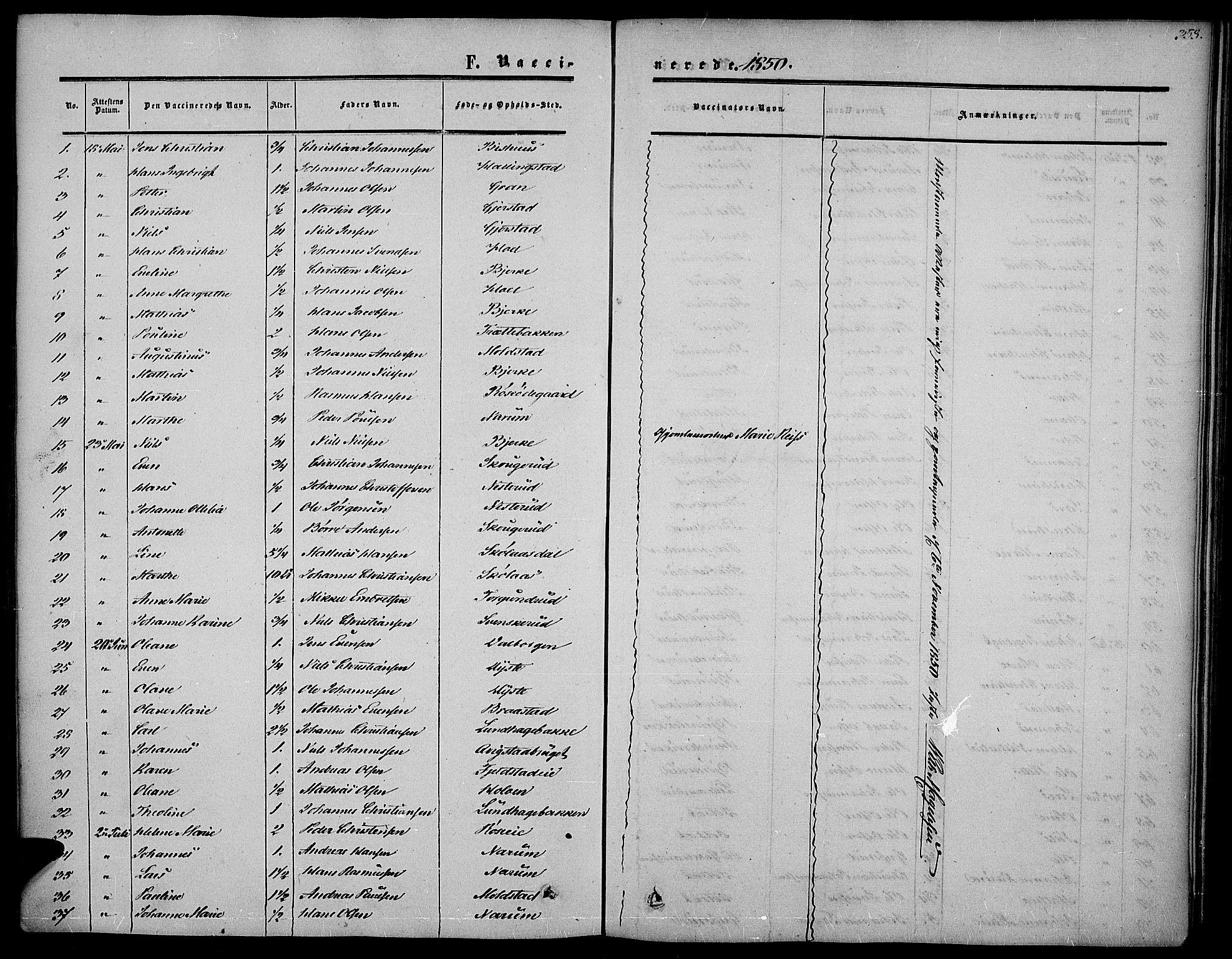 SAH, Vestre Toten prestekontor, Ministerialbok nr. 5, 1850-1855, s. 358