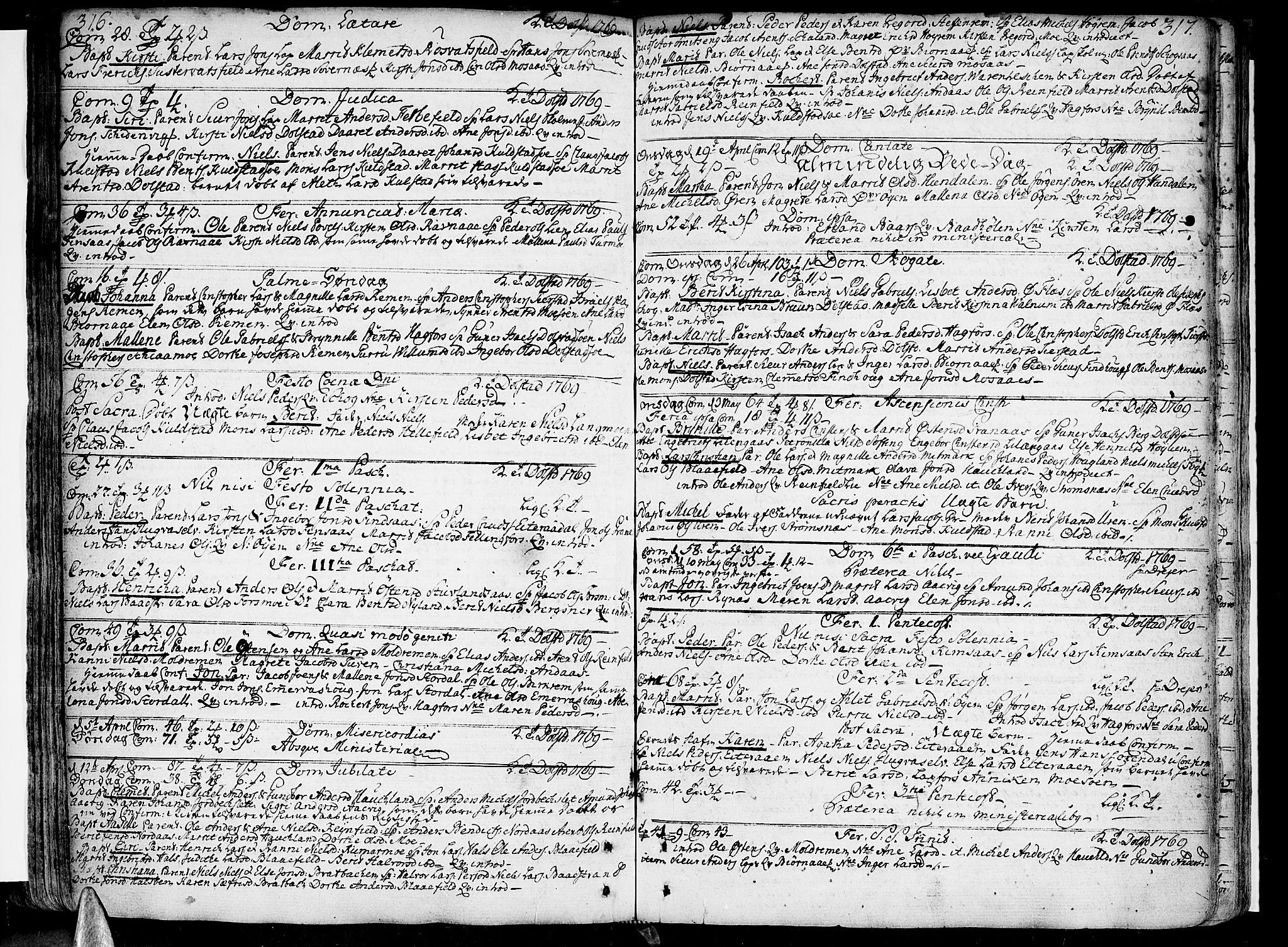 SAT, Ministerialprotokoller, klokkerbøker og fødselsregistre - Nordland, 820/L0285: Ministerialbok nr. 820A06, 1753-1778, s. 316-317