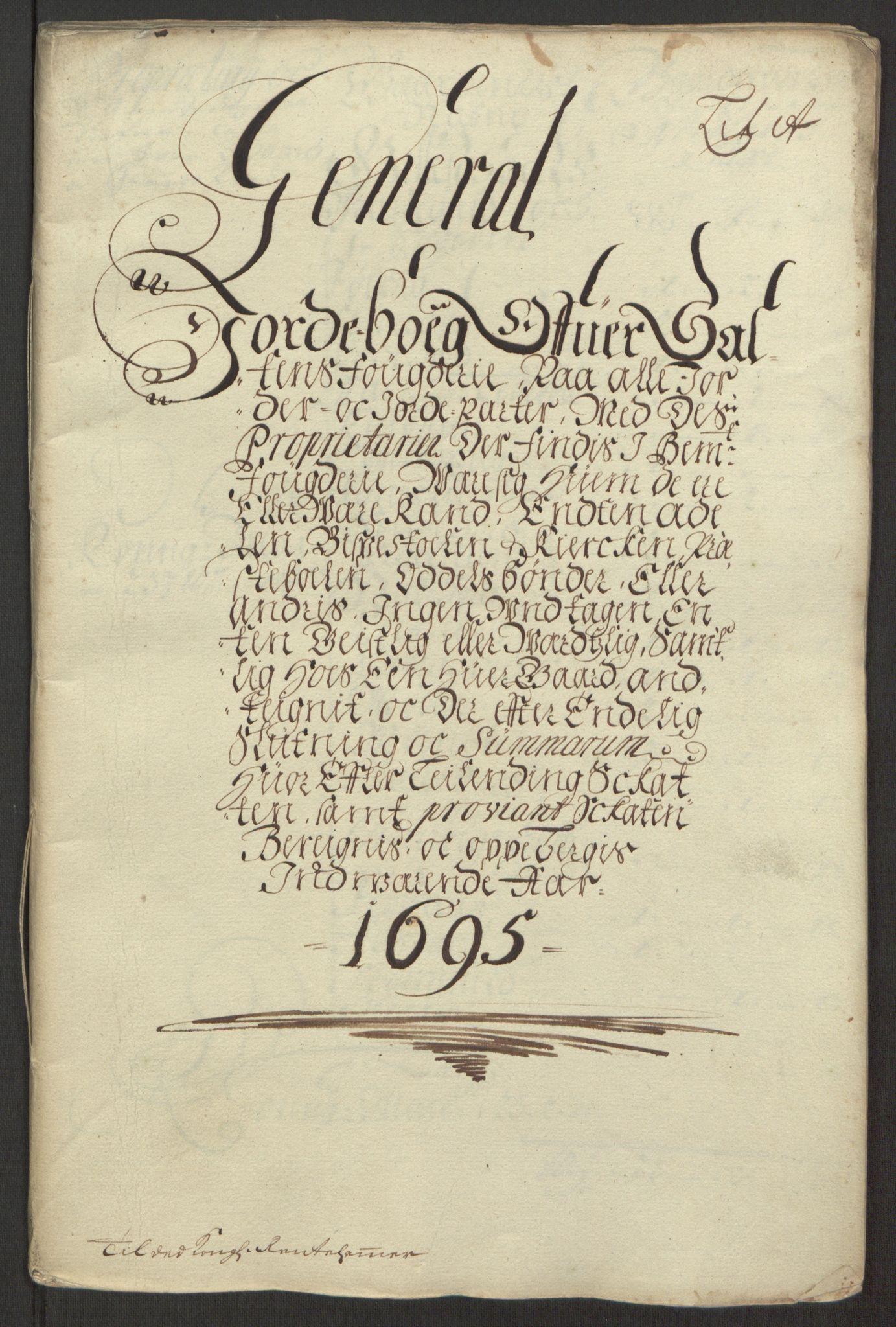 RA, Rentekammeret inntil 1814, Reviderte regnskaper, Fogderegnskap, R66/L4578: Fogderegnskap Salten, 1694-1696, s. 109