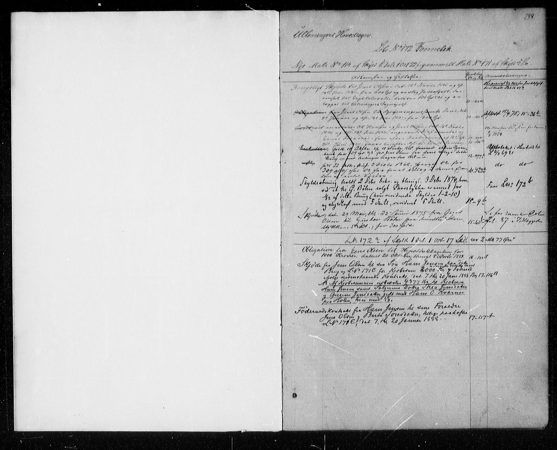 SAO, Nes tingrett, G/Ga/Gab/Gaba/L0008.b: Panteregister nr. I 8b, s. 288