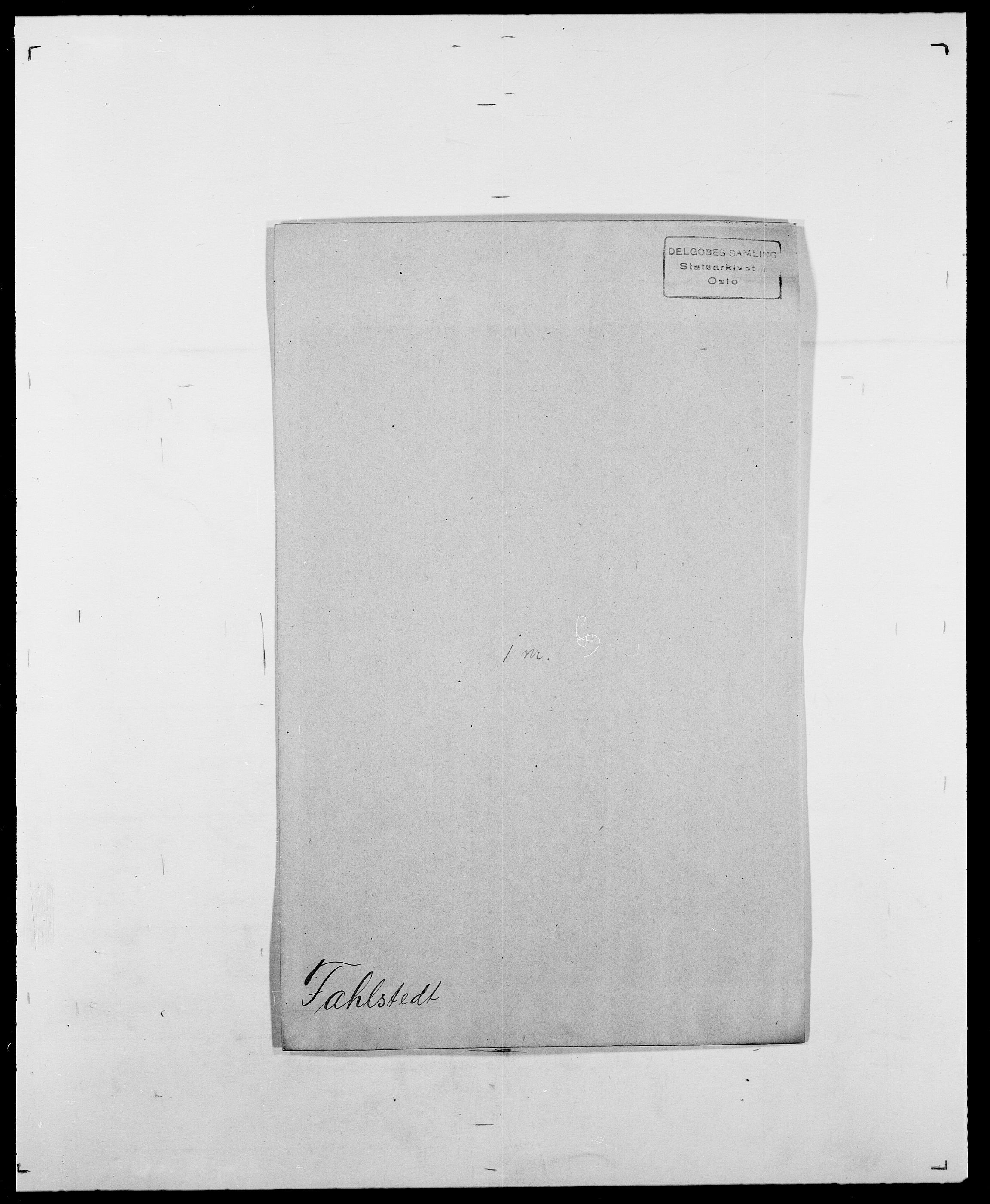 SAO, Delgobe, Charles Antoine - samling, D/Da/L0011: Fahlander - Flood, Flod, s. 7