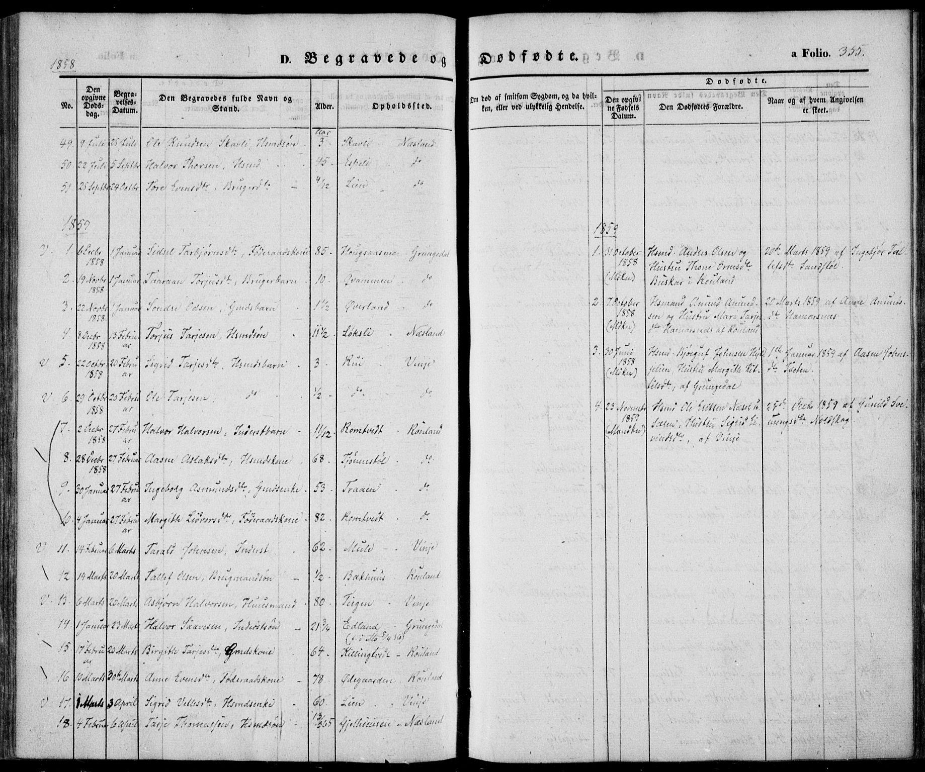 SAKO, Vinje kirkebøker, F/Fa/L0004: Ministerialbok nr. I 4, 1843-1869, s. 355