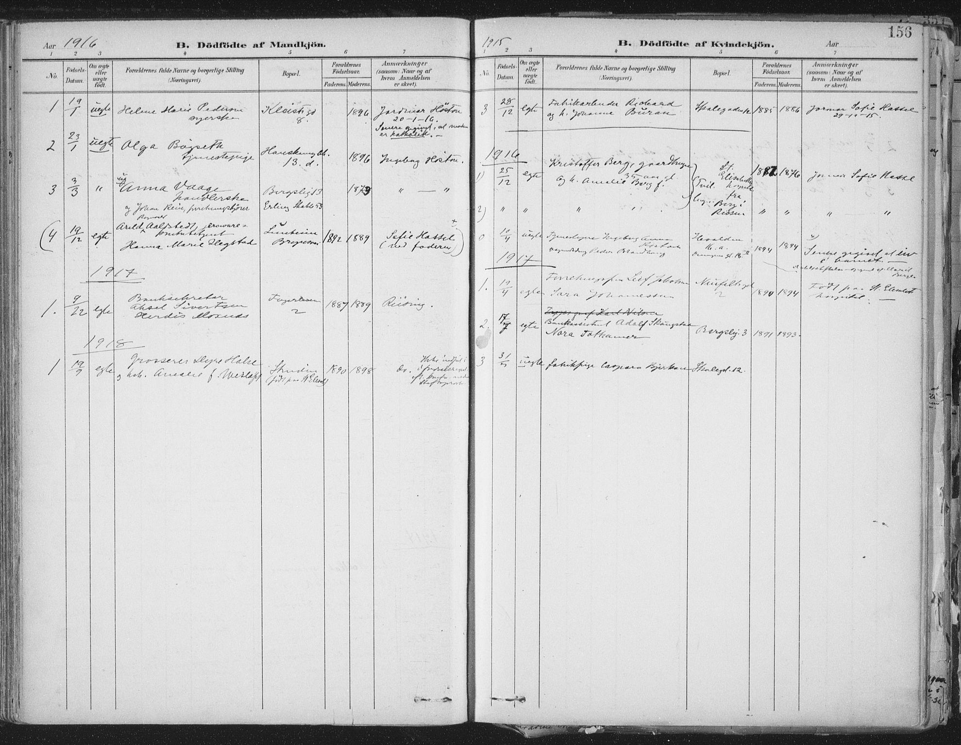 SAT, Ministerialprotokoller, klokkerbøker og fødselsregistre - Sør-Trøndelag, 603/L0167: Ministerialbok nr. 603A06, 1896-1932, s. 156