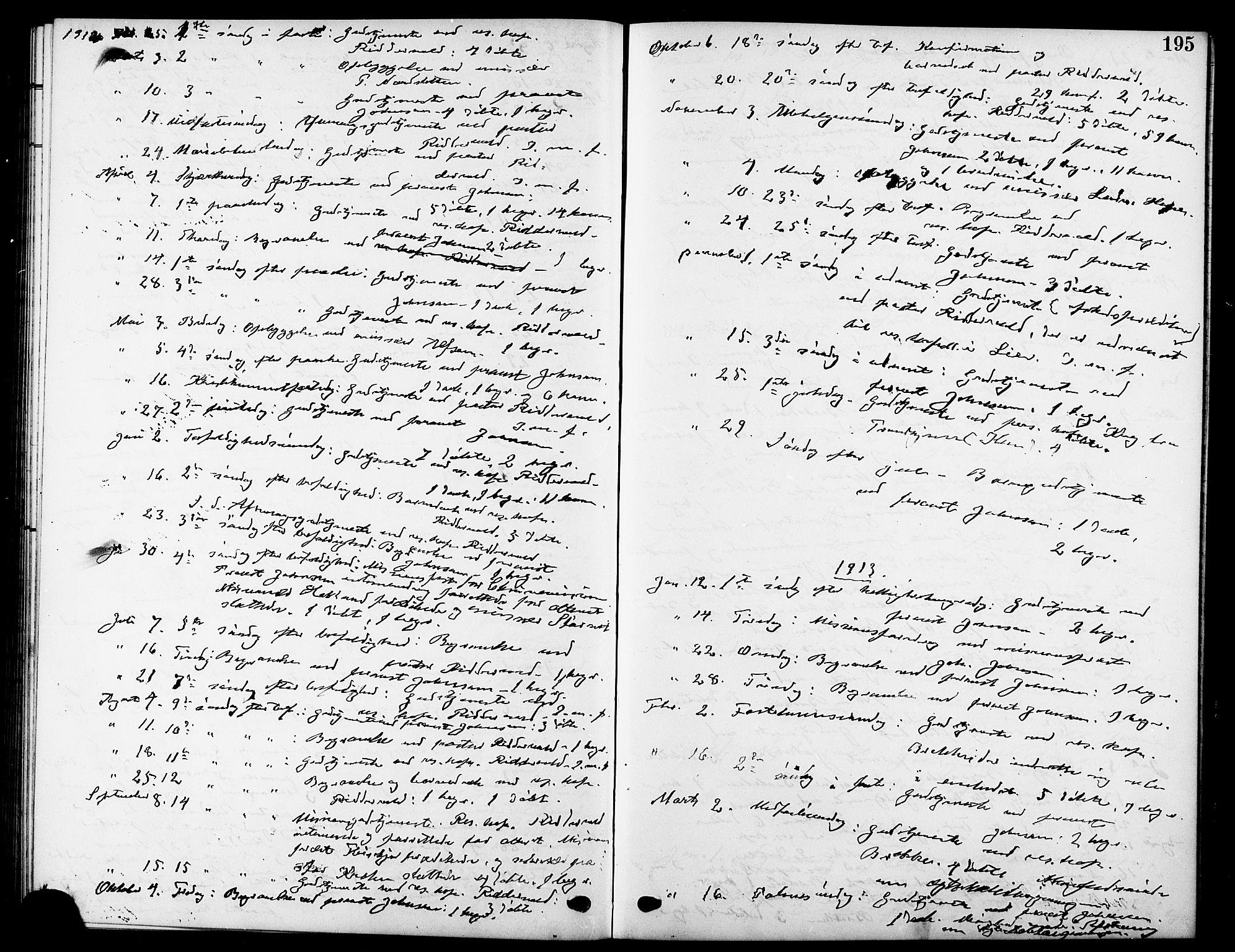 SAT, Ministerialprotokoller, klokkerbøker og fødselsregistre - Sør-Trøndelag, 669/L0831: Klokkerbok nr. 669C01, 1909-1924, s. 195