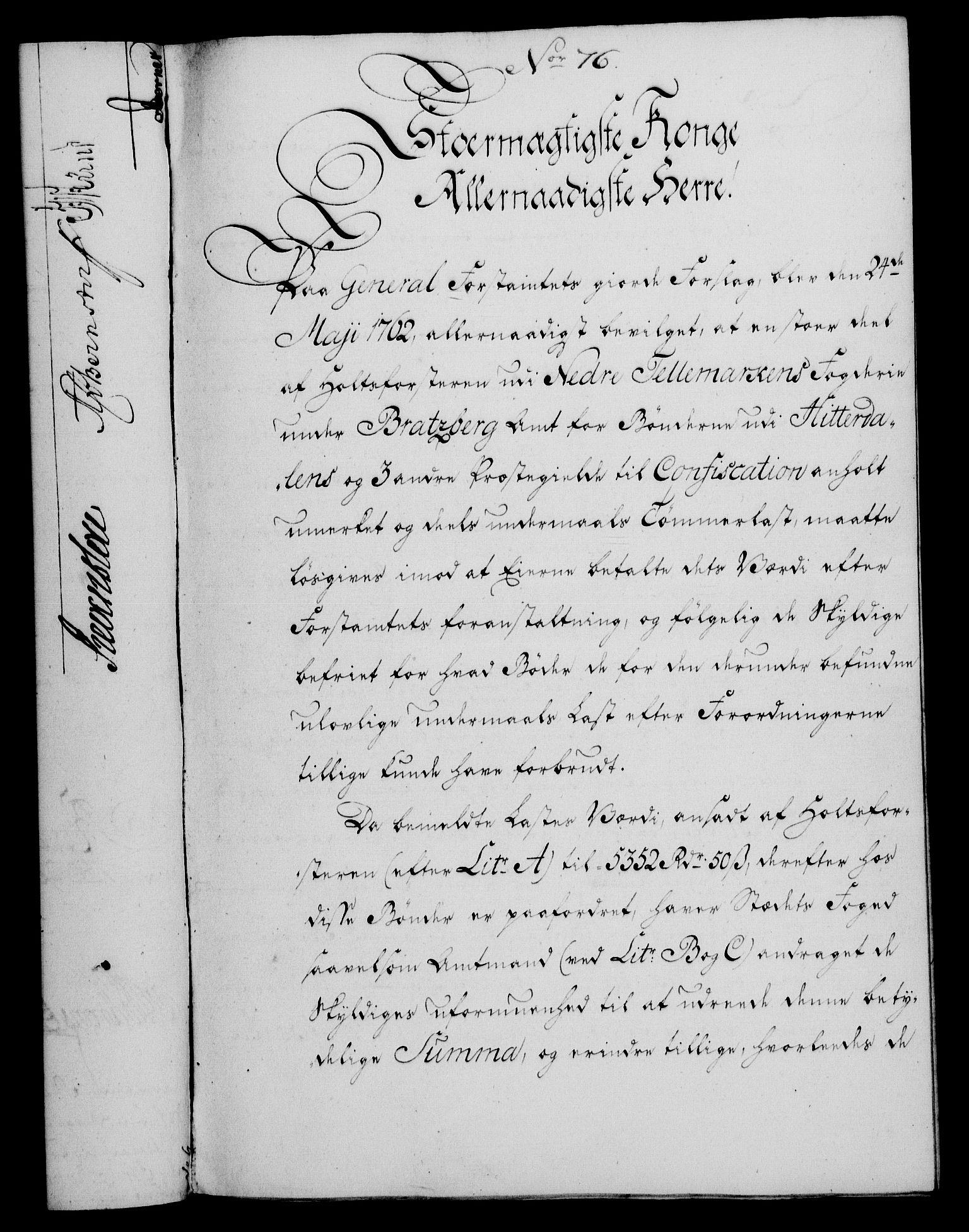 RA, Rentekammeret, Kammerkanselliet, G/Gf/Gfa/L0048: Norsk relasjons- og resolusjonsprotokoll (merket RK 52.48), 1766, s. 336