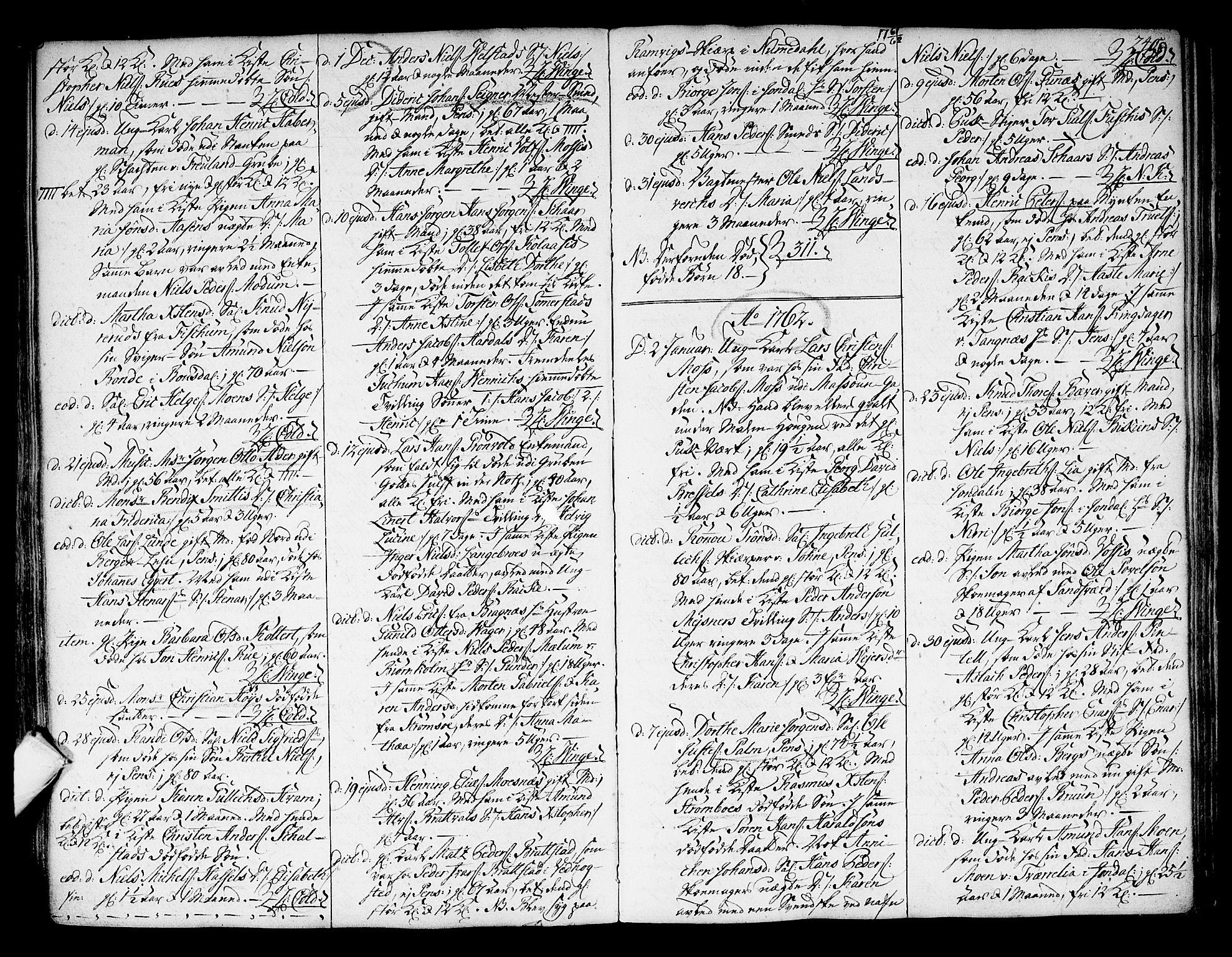 SAKO, Kongsberg kirkebøker, F/Fa/L0004: Ministerialbok nr. I 4, 1756-1768, s. 240