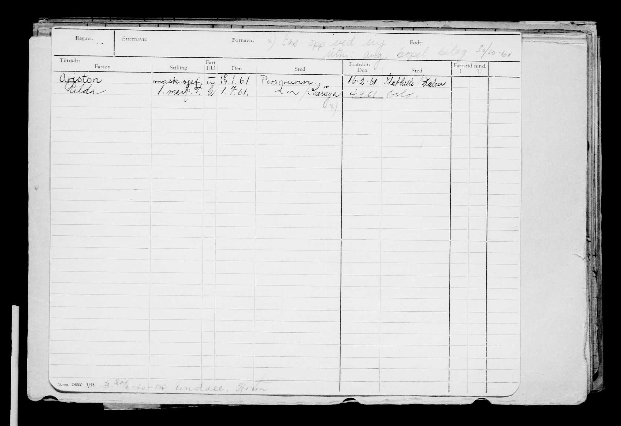 RA, Direktoratet for sjømenn, G/Gb/L0028: Hovedkort, 1898, s. 2
