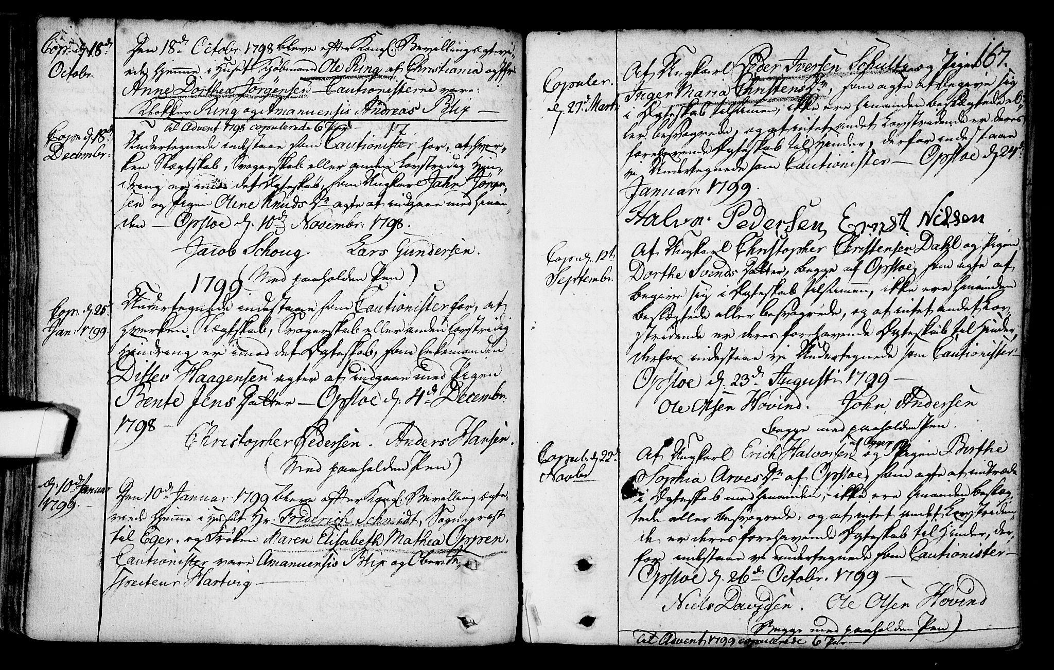 SAO, Gamlebyen prestekontor Kirkebøker, F/Fa/L0001: Ministerialbok nr. 1, 1734-1818, s. 167