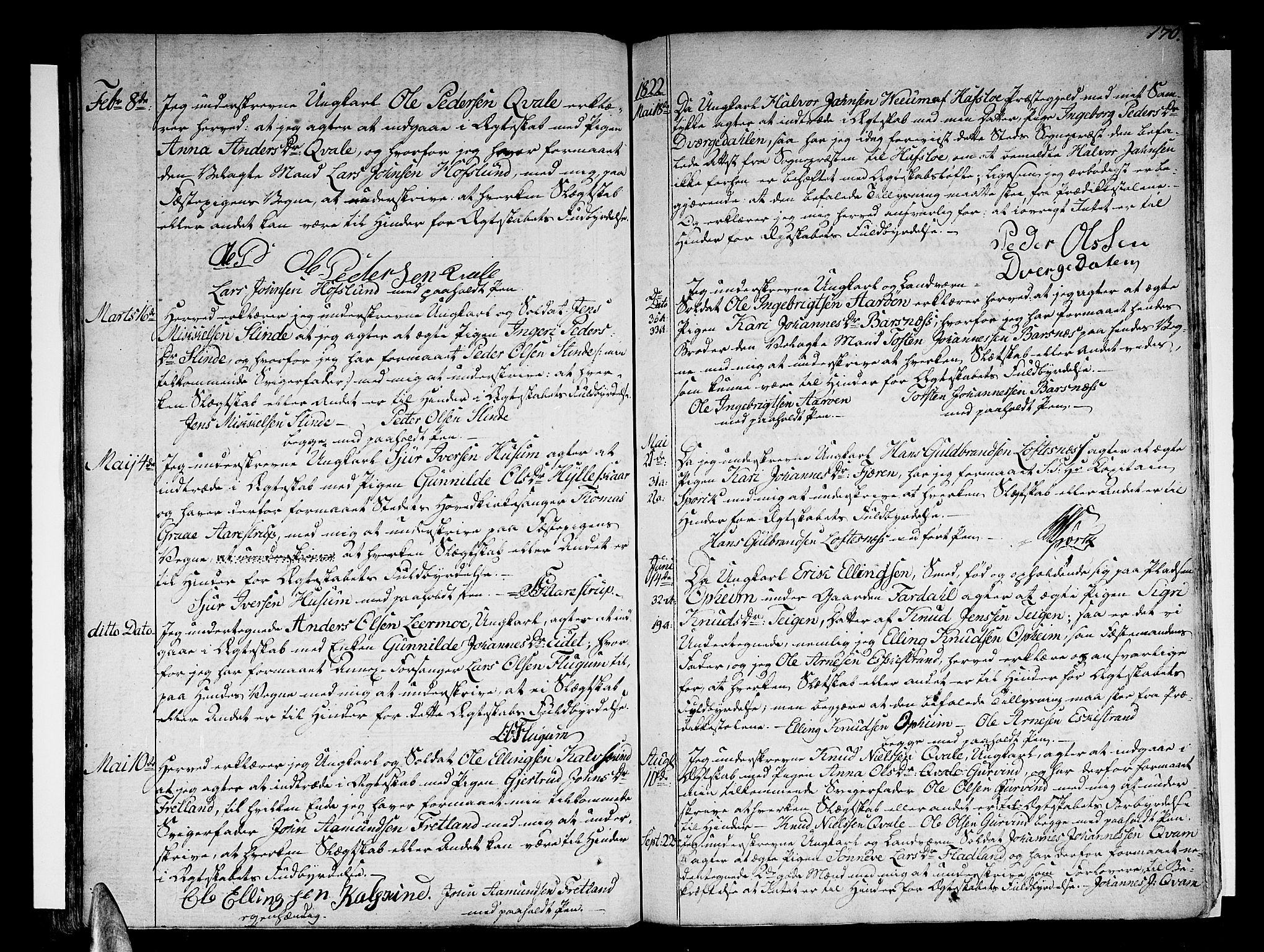 SAB, Sogndal Sokneprestembete, H/Haa/Haaa/L0009: Ministerialbok nr. A 9, 1809-1821, s. 170