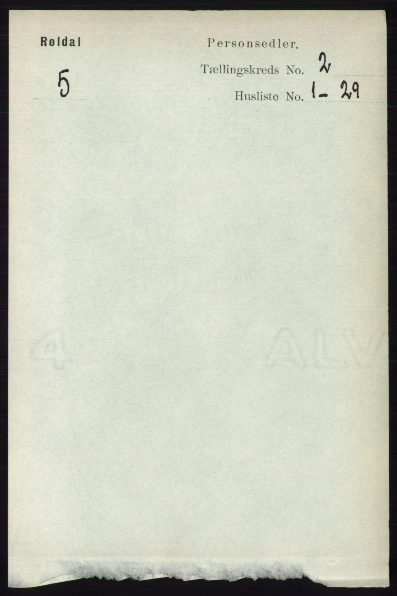 RA, Folketelling 1891 for 1229 Røldal herred, 1891, s. 529
