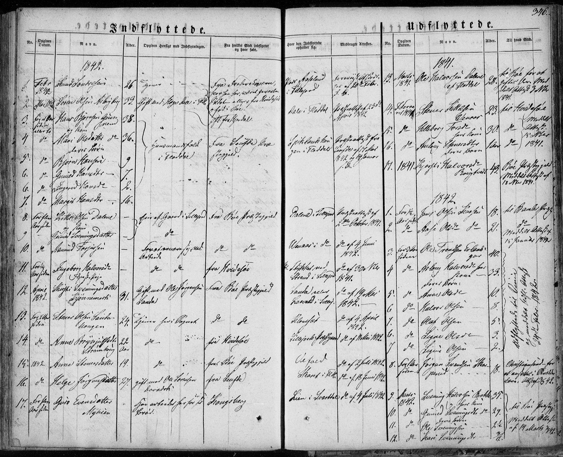 SAKO, Seljord kirkebøker, F/Fa/L0011: Ministerialbok nr. I 11, 1831-1849, s. 346