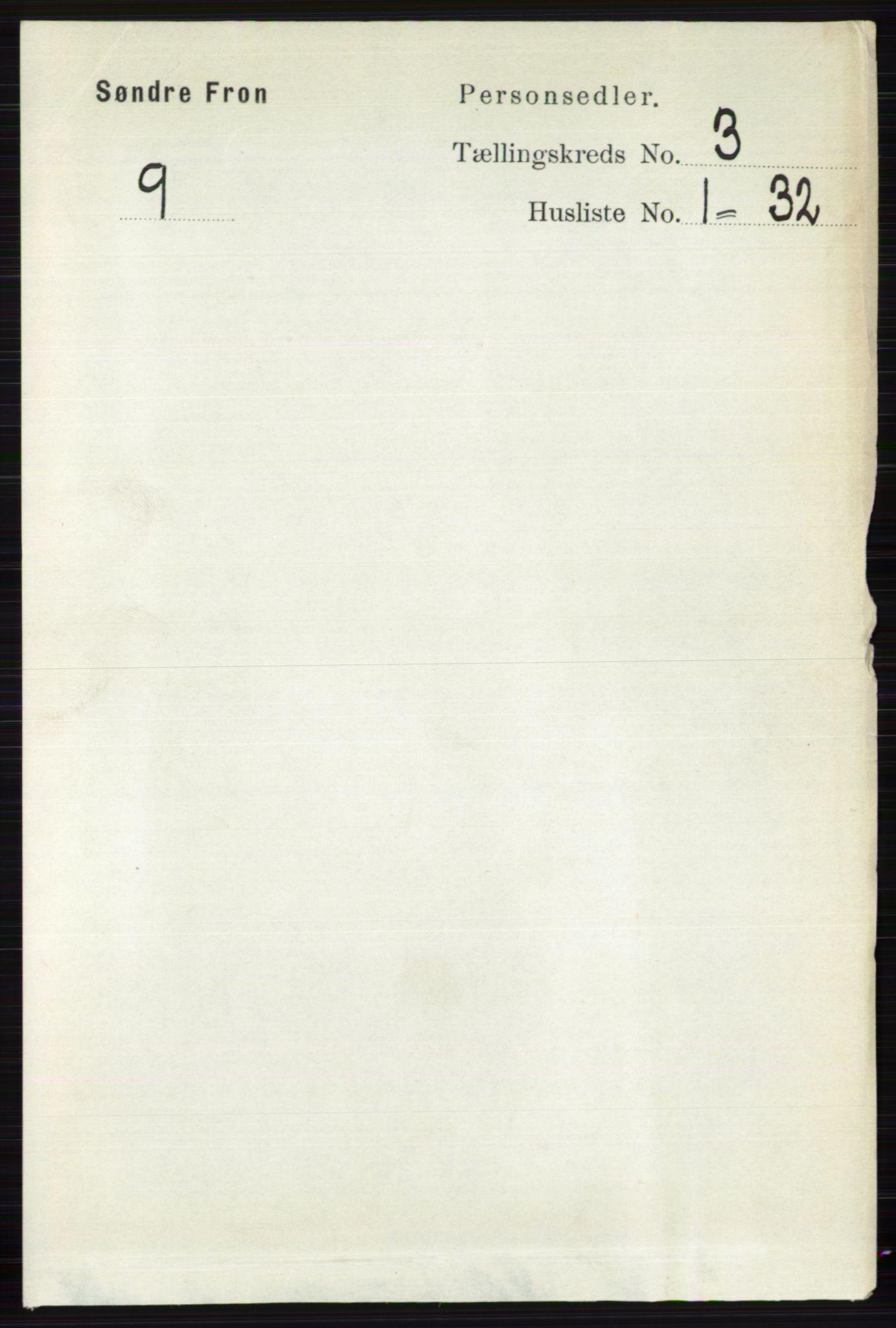 RA, Folketelling 1891 for 0519 Sør-Fron herred, 1891, s. 972