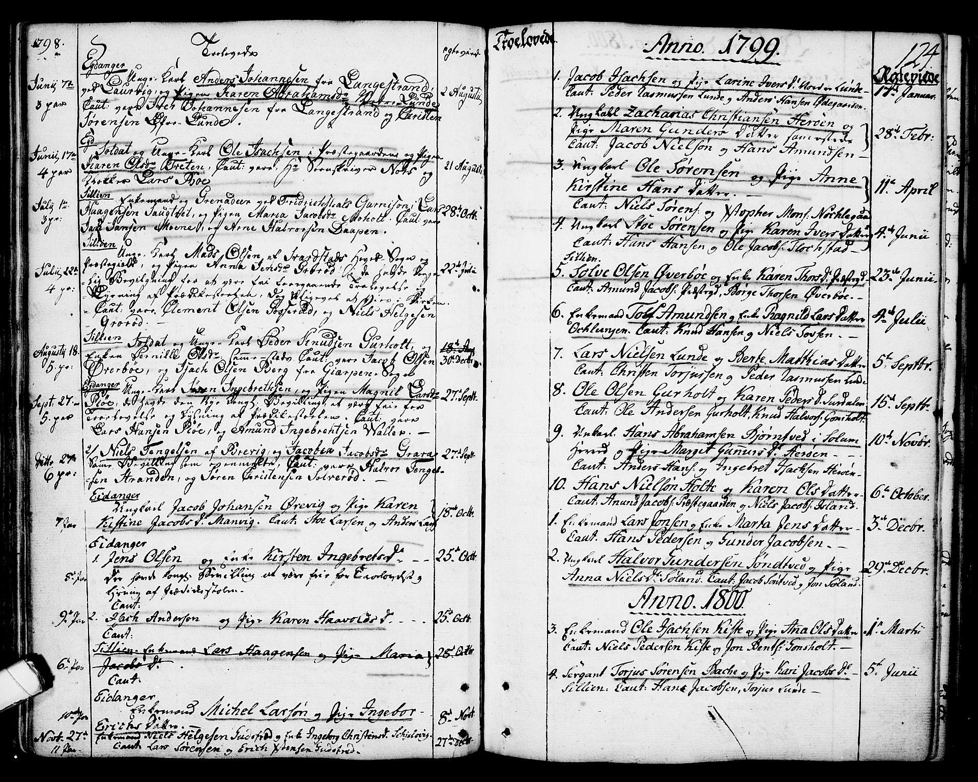 SAKO, Eidanger kirkebøker, F/Fa/L0006: Ministerialbok nr. 6, 1764-1814, s. 124