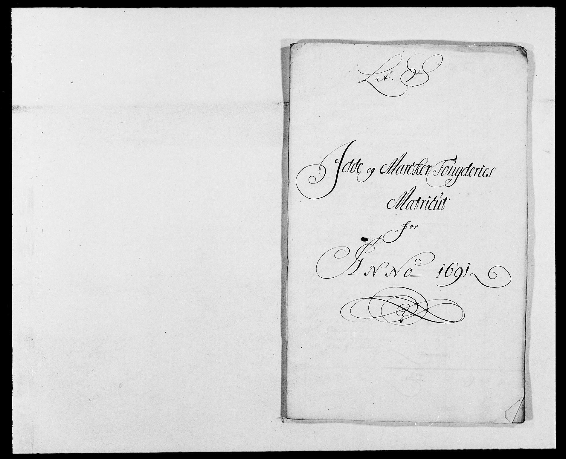 RA, Rentekammeret inntil 1814, Reviderte regnskaper, Fogderegnskap, R01/L0010: Fogderegnskap Idd og Marker, 1690-1691, s. 335