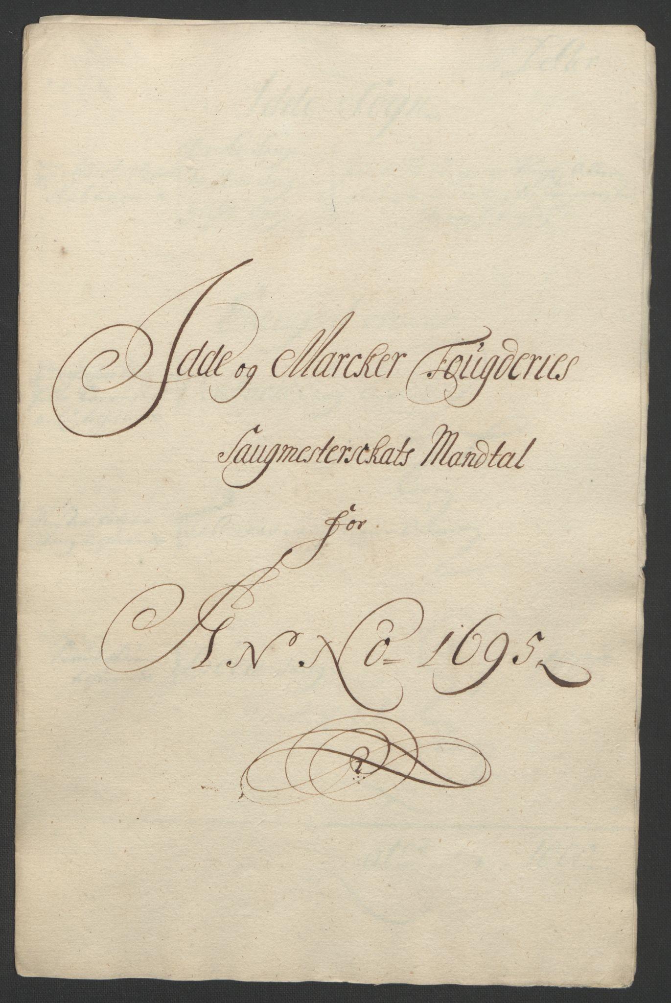 RA, Rentekammeret inntil 1814, Reviderte regnskaper, Fogderegnskap, R01/L0012: Fogderegnskap Idd og Marker, 1694-1695, s. 232