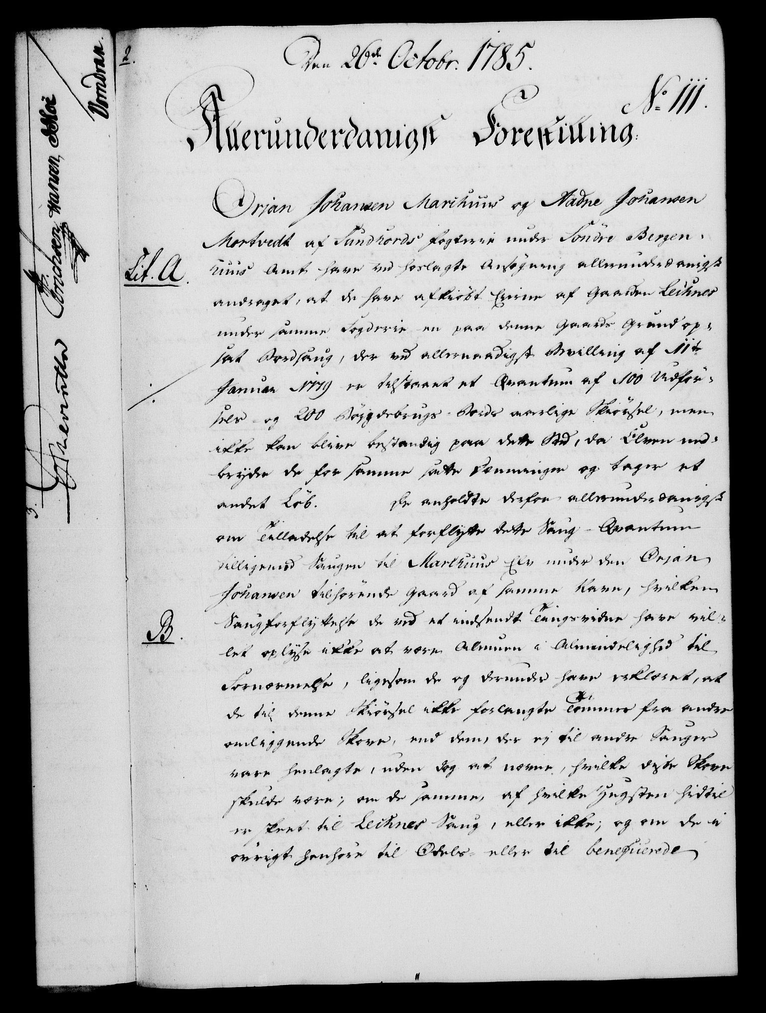 RA, Rentekammeret, Kammerkanselliet, G/Gf/Gfa/L0067: Norsk relasjons- og resolusjonsprotokoll (merket RK 52.67), 1785, s. 855