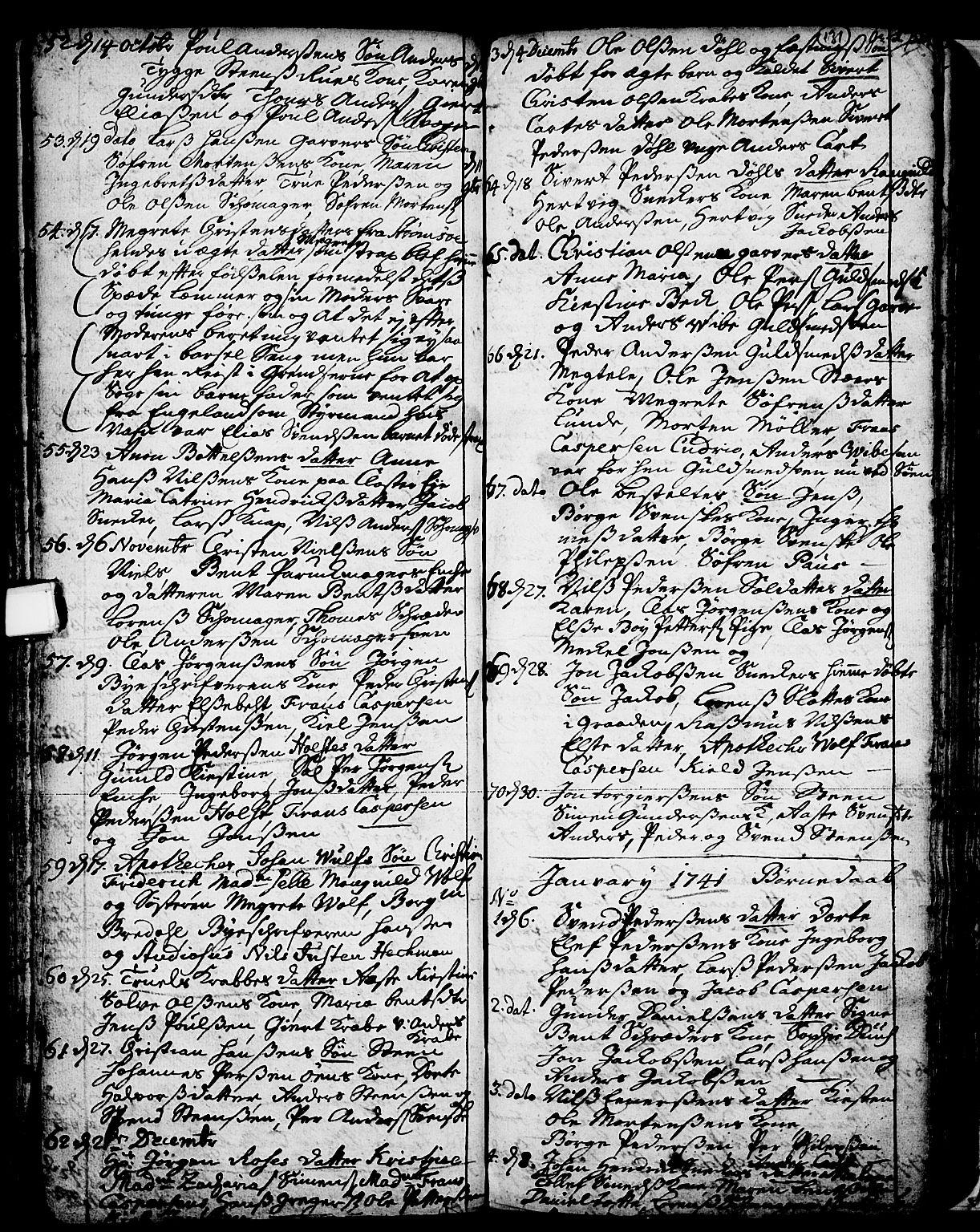SAKO, Skien kirkebøker, F/Fa/L0002: Ministerialbok nr. 2, 1716-1757, s. 131