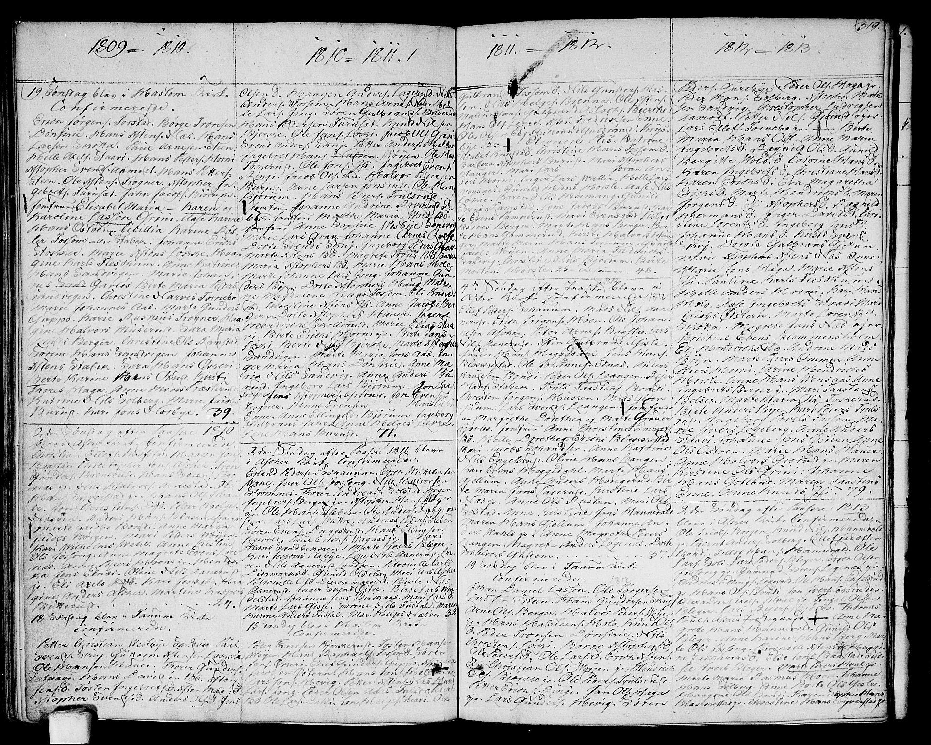 SAO, Asker prestekontor Kirkebøker, F/Fa/L0005: Ministerialbok nr. I 5, 1807-1813, s. 319