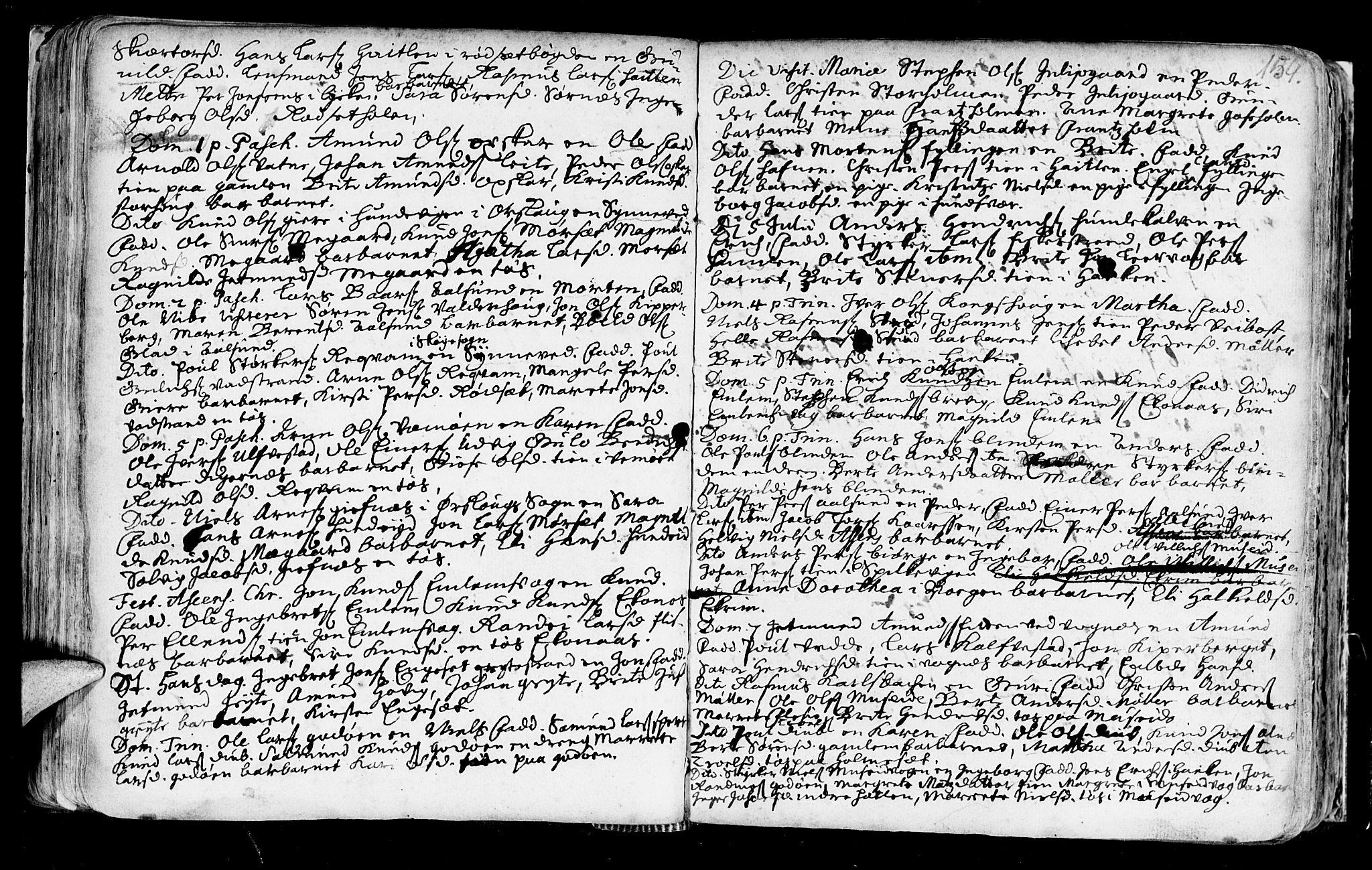 SAT, Ministerialprotokoller, klokkerbøker og fødselsregistre - Møre og Romsdal, 528/L0390: Ministerialbok nr. 528A01, 1698-1739, s. 158-159