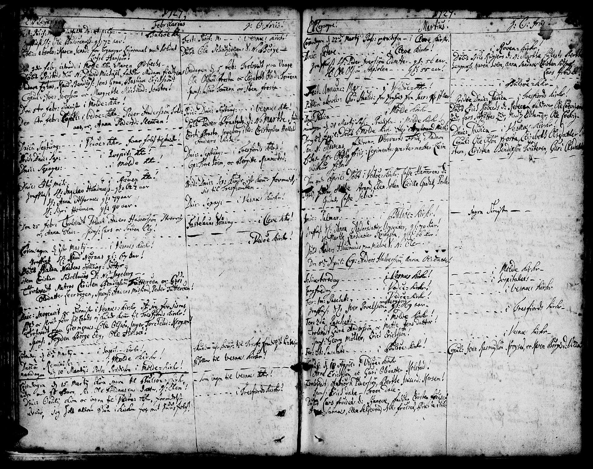 SAT, Ministerialprotokoller, klokkerbøker og fødselsregistre - Møre og Romsdal, 547/L0599: Ministerialbok nr. 547A01, 1721-1764, s. 80-81