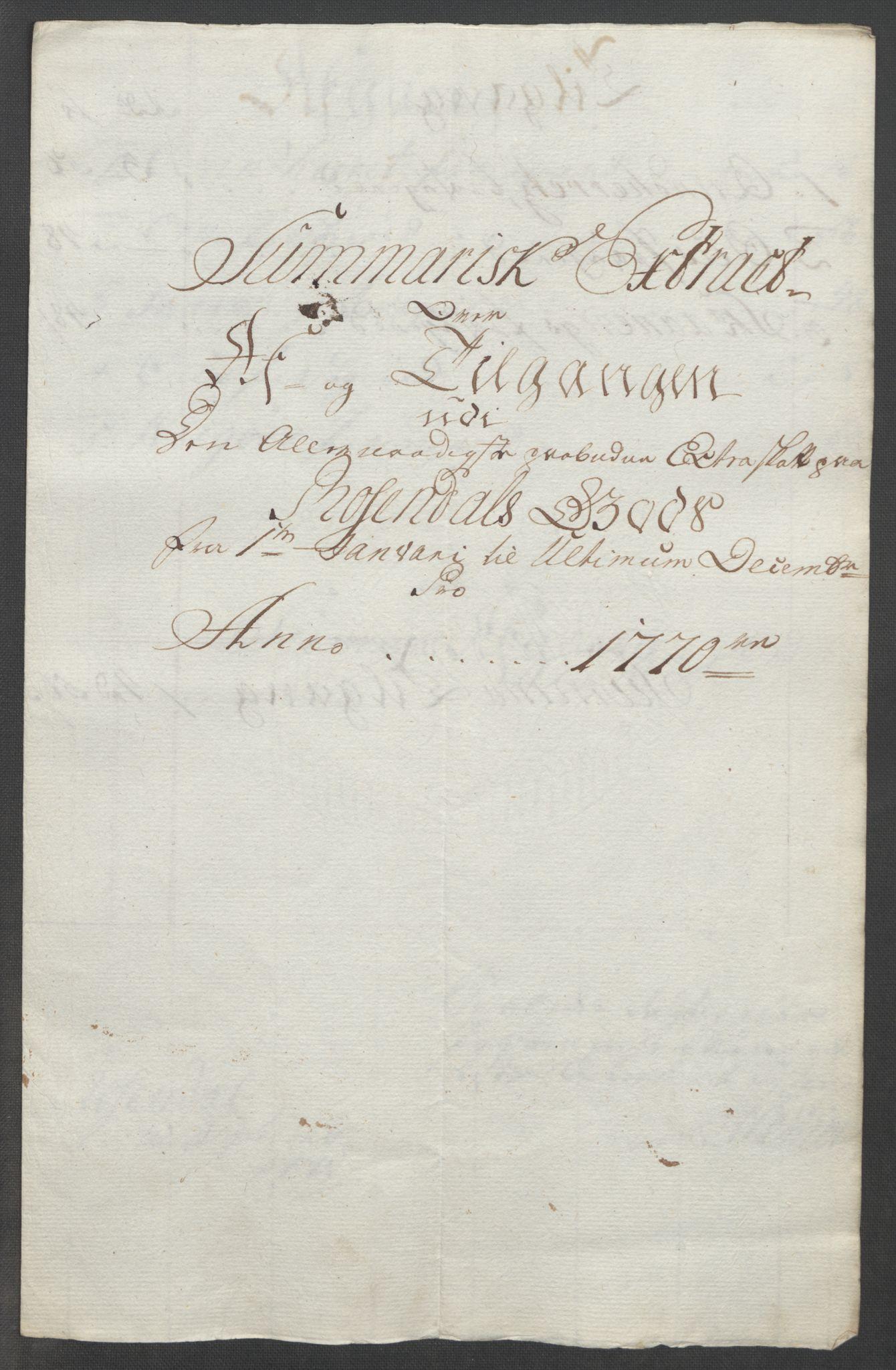 RA, Rentekammeret inntil 1814, Reviderte regnskaper, Fogderegnskap, R49/L3157: Ekstraskatten Rosendal Baroni, 1762-1772, s. 292