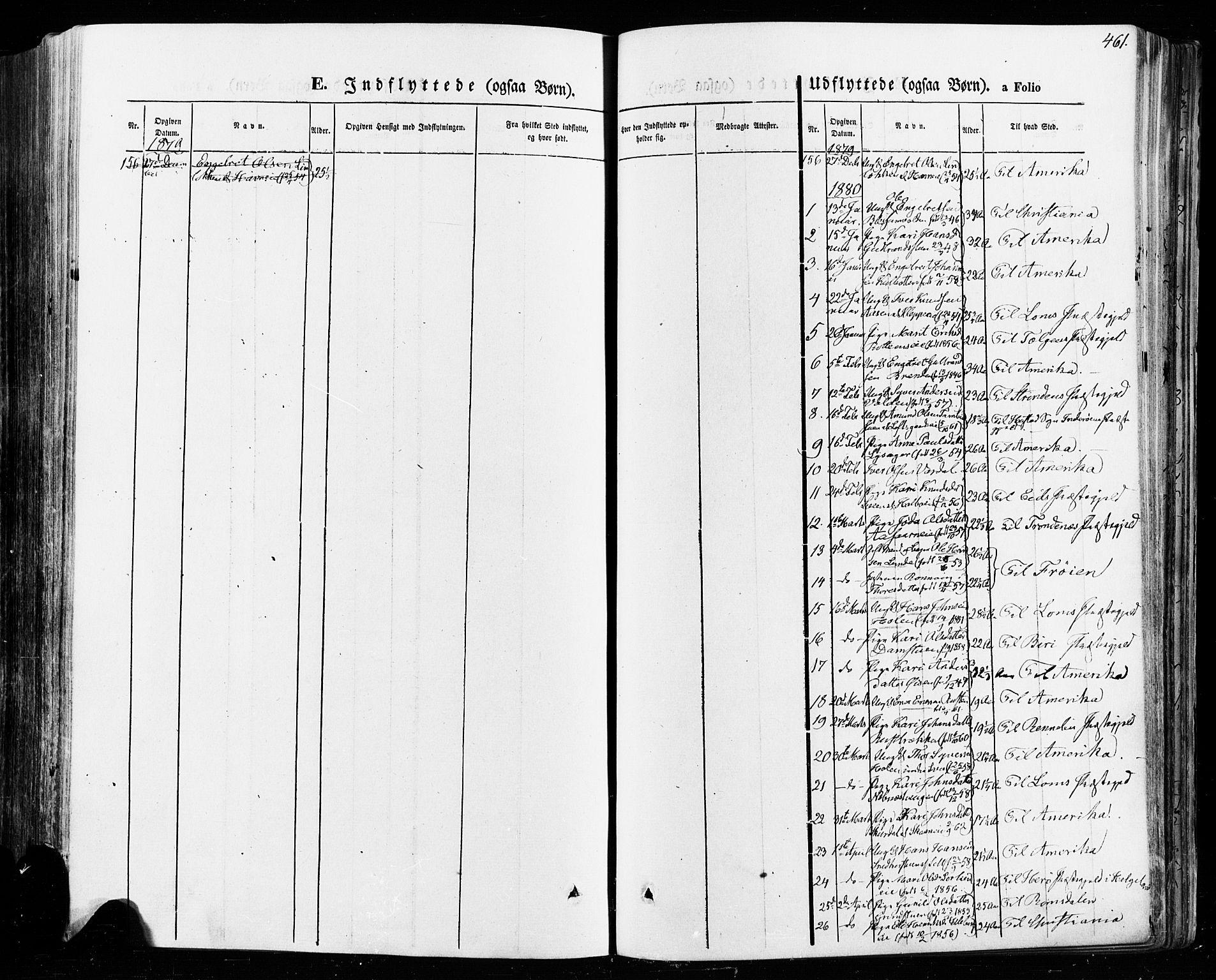 SAH, Vågå prestekontor, Ministerialbok nr. 7 /1, 1872-1886, s. 461