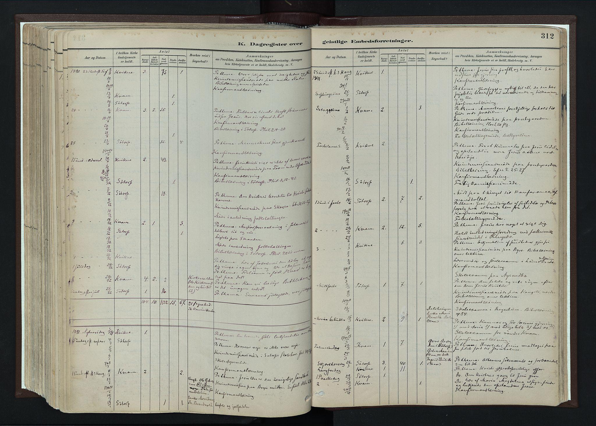 SAH, Nord-Fron prestekontor, Ministerialbok nr. 4, 1884-1914, s. 312