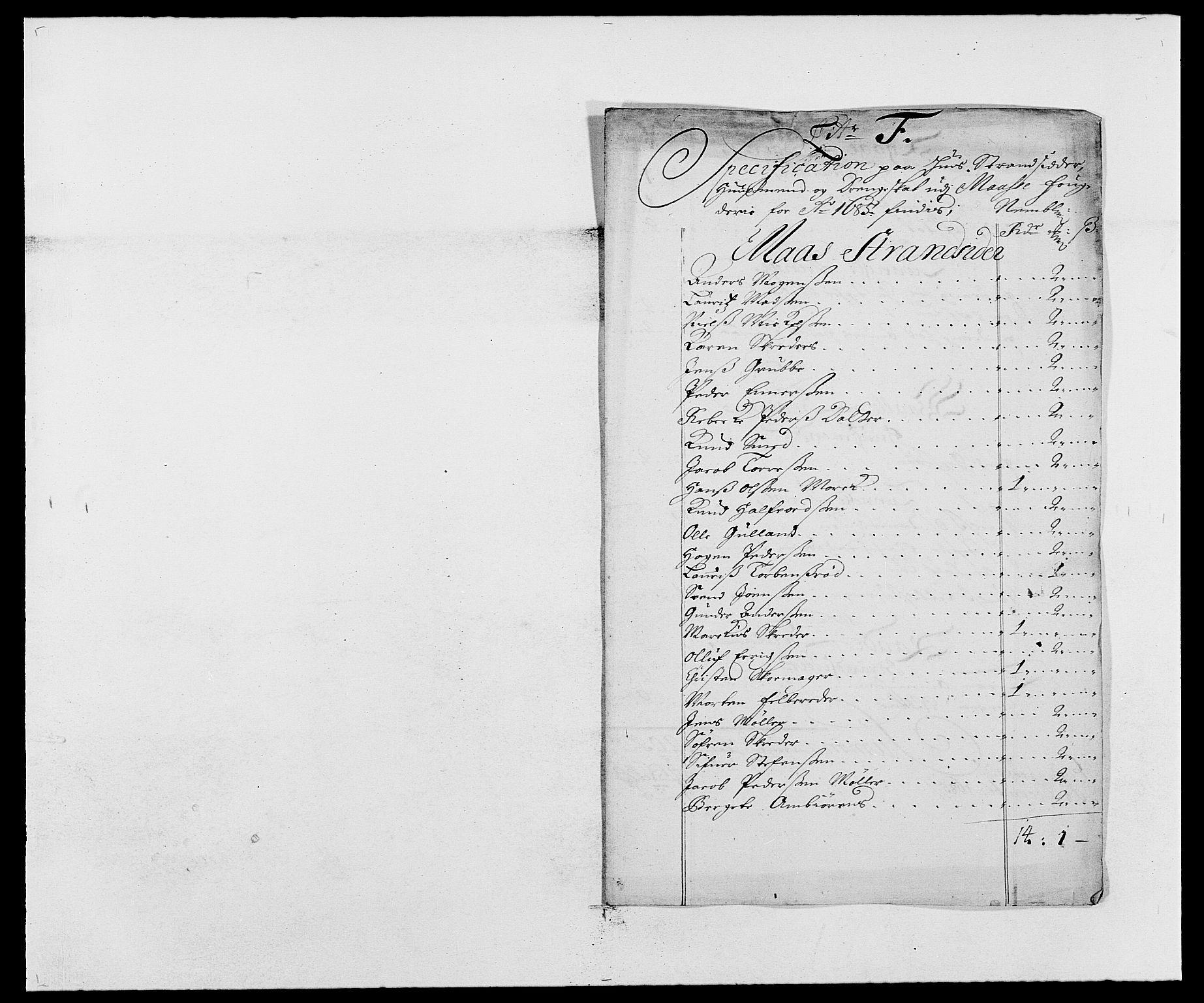 RA, Rentekammeret inntil 1814, Reviderte regnskaper, Fogderegnskap, R02/L0105: Fogderegnskap Moss og Verne kloster, 1685-1687, s. 89
