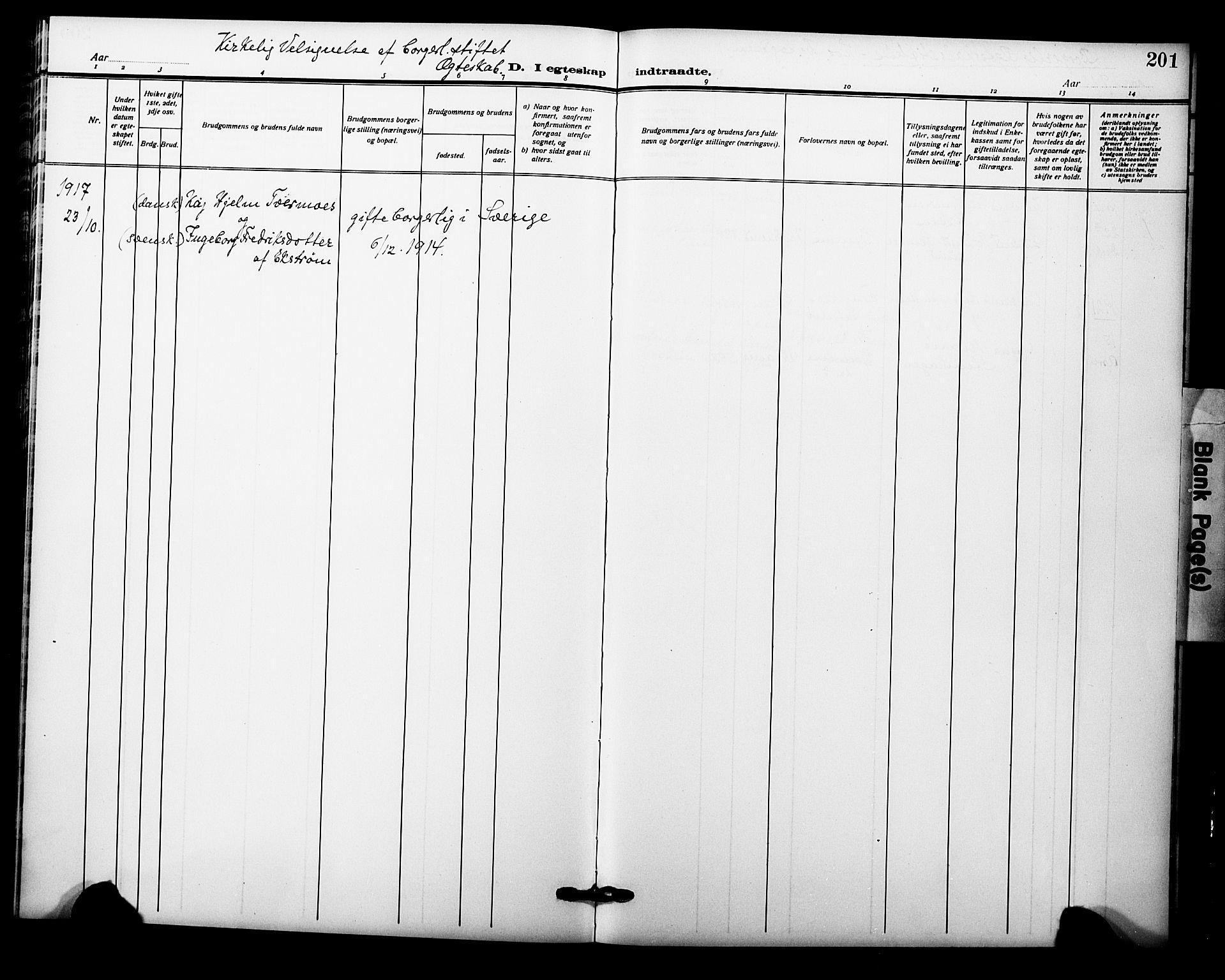 SAO, Garnisonsmenigheten Kirkebøker, F/Fa/L0015: Ministerialbok nr. 15, 1915-1921, s. 201