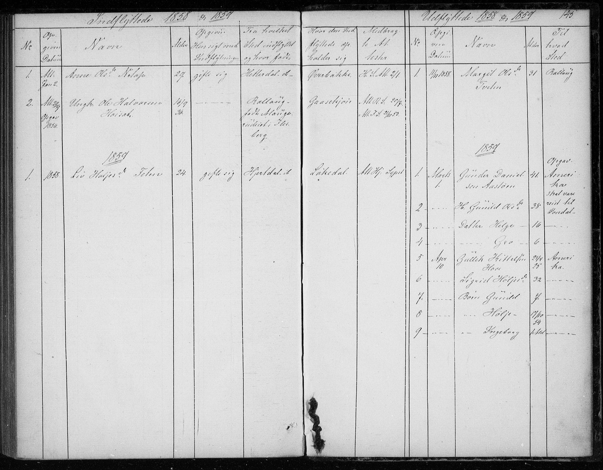 SAKO, Gransherad kirkebøker, F/Fb/L0003: Ministerialbok nr. II 3, 1844-1859, s. 145