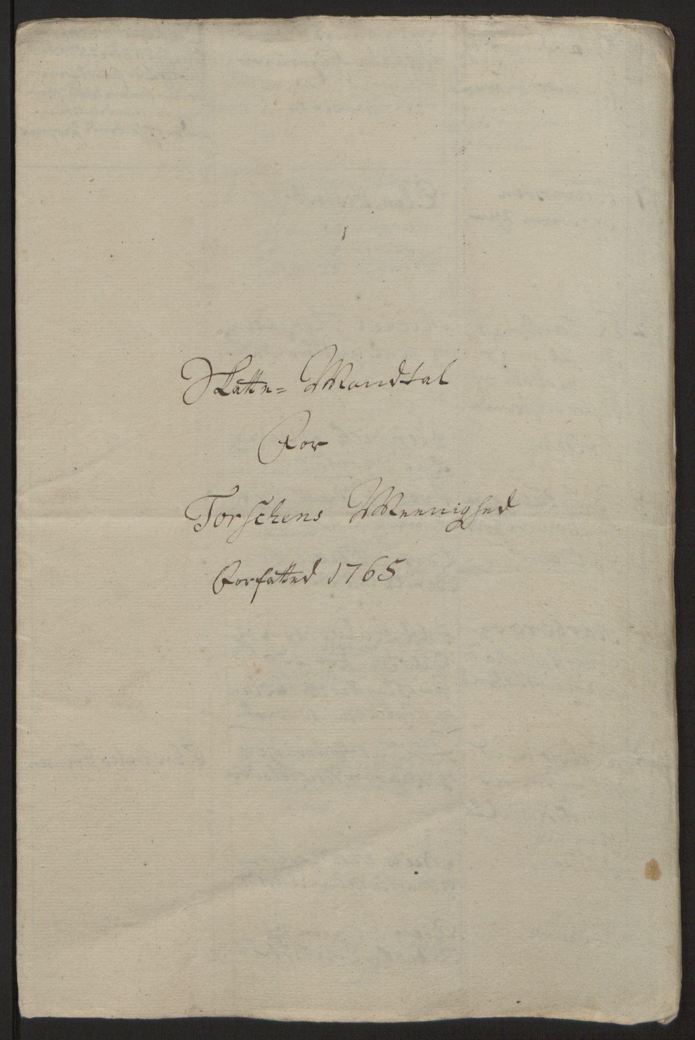 RA, Rentekammeret inntil 1814, Reviderte regnskaper, Fogderegnskap, R68/L4845: Ekstraskatten Senja og Troms, 1762-1765, s. 531