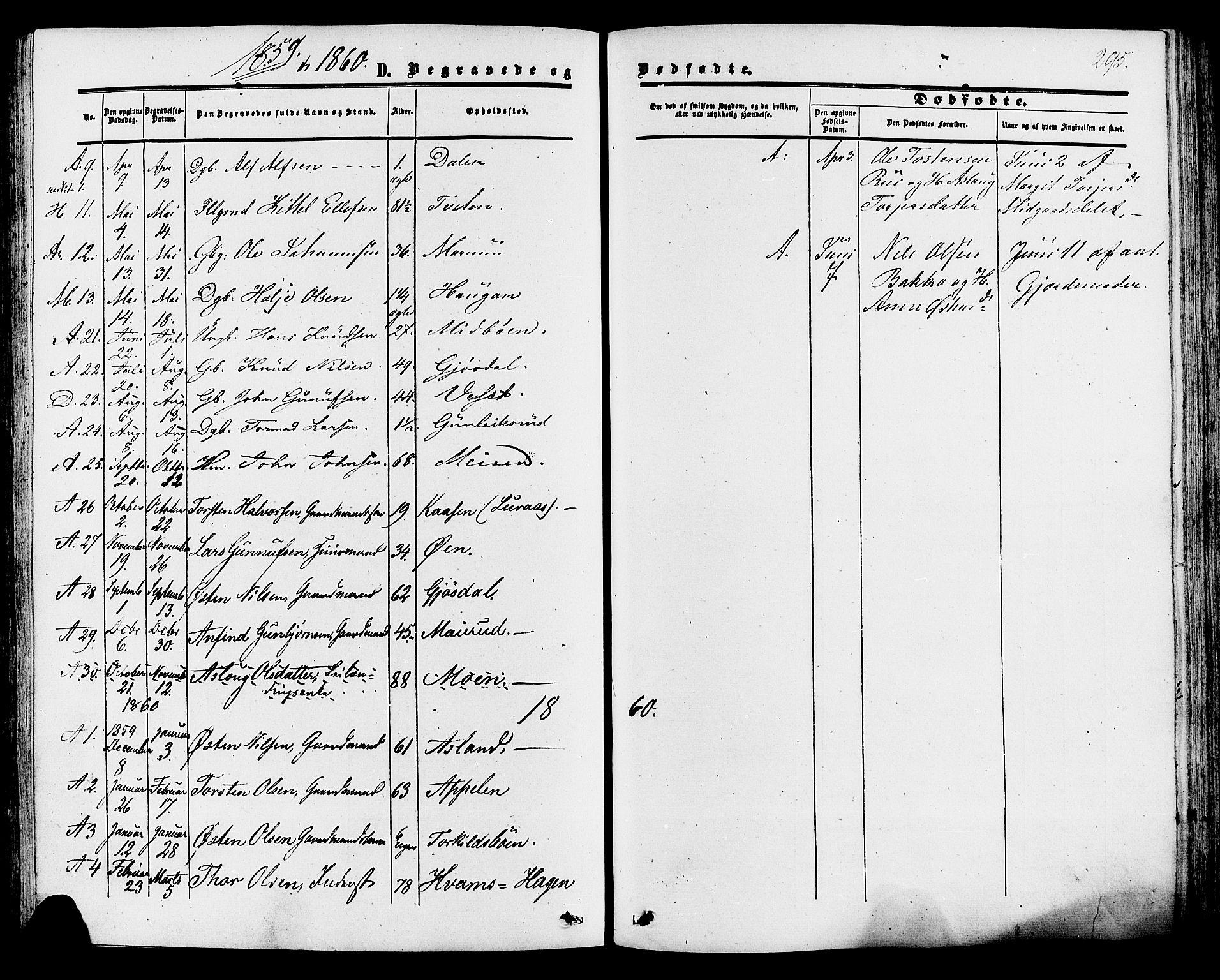 SAKO, Tinn kirkebøker, F/Fa/L0006: Ministerialbok nr. I 6, 1857-1878, s. 295